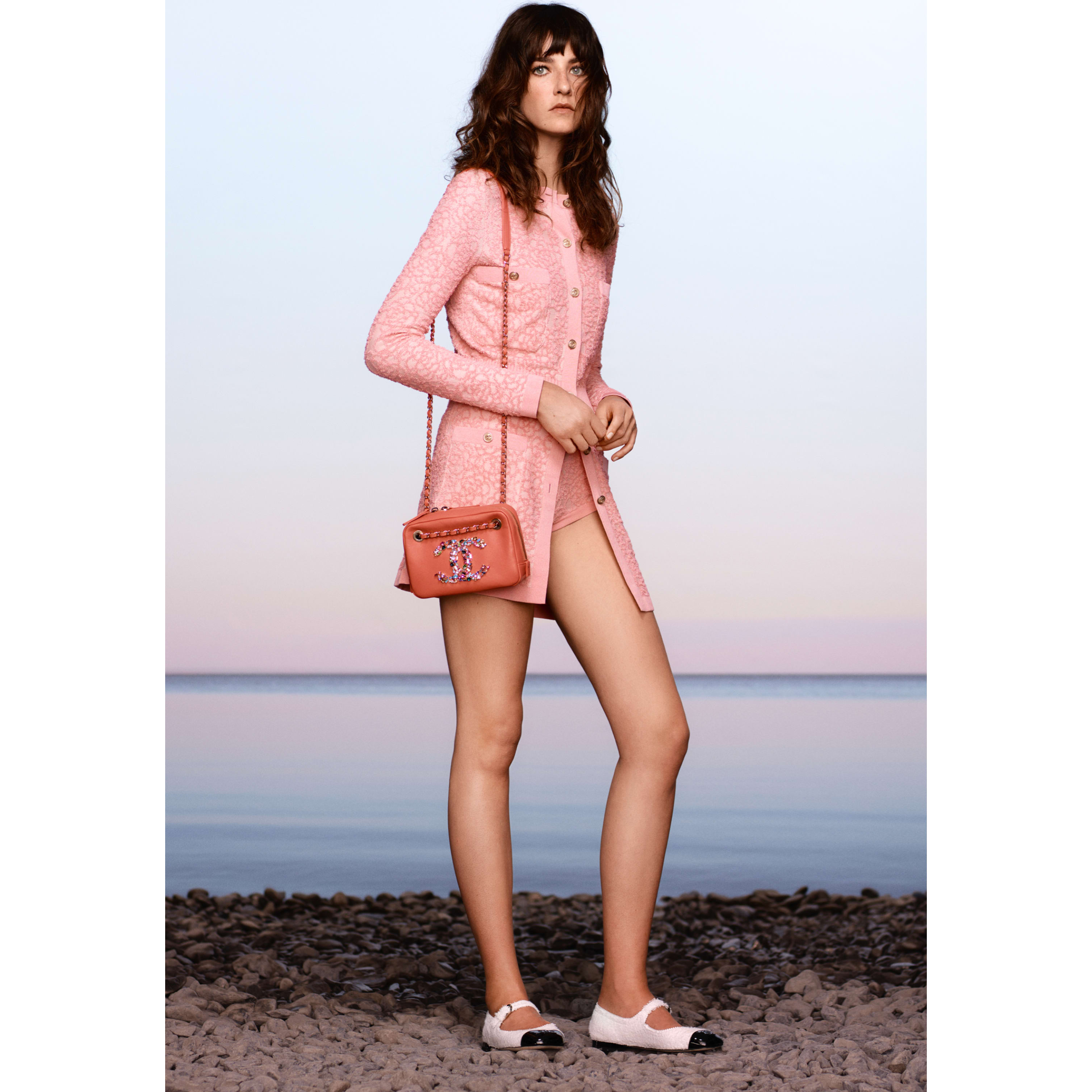 Dress - Pink & Pale Pink - Cotton & Silk - CHANEL - Default view - see standard sized version