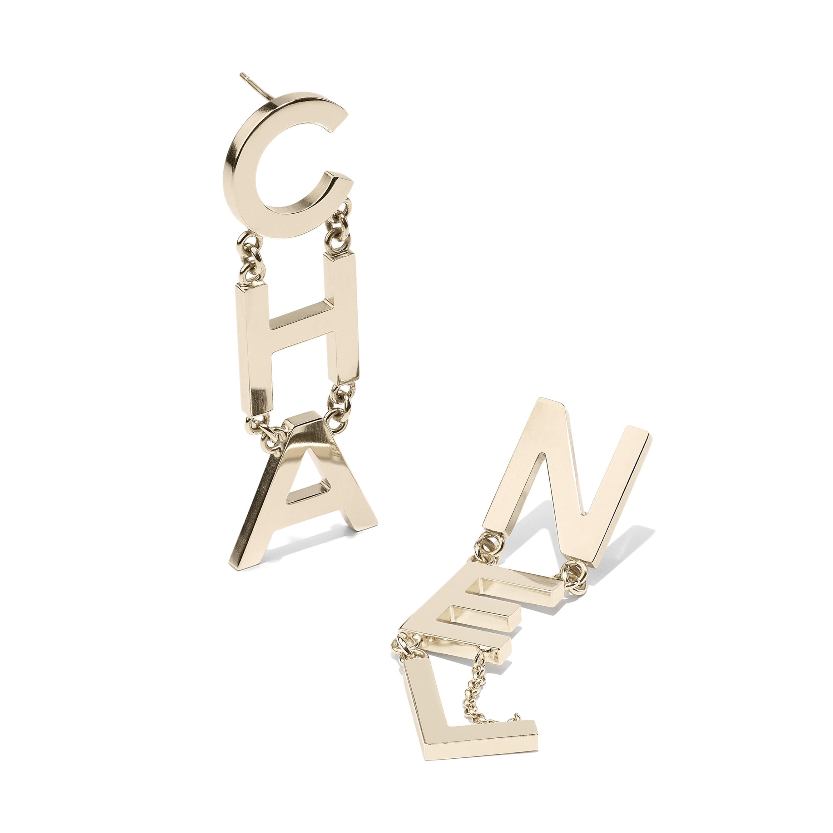 Earrings - Gold - Metal - Alternative view - see standard sized version