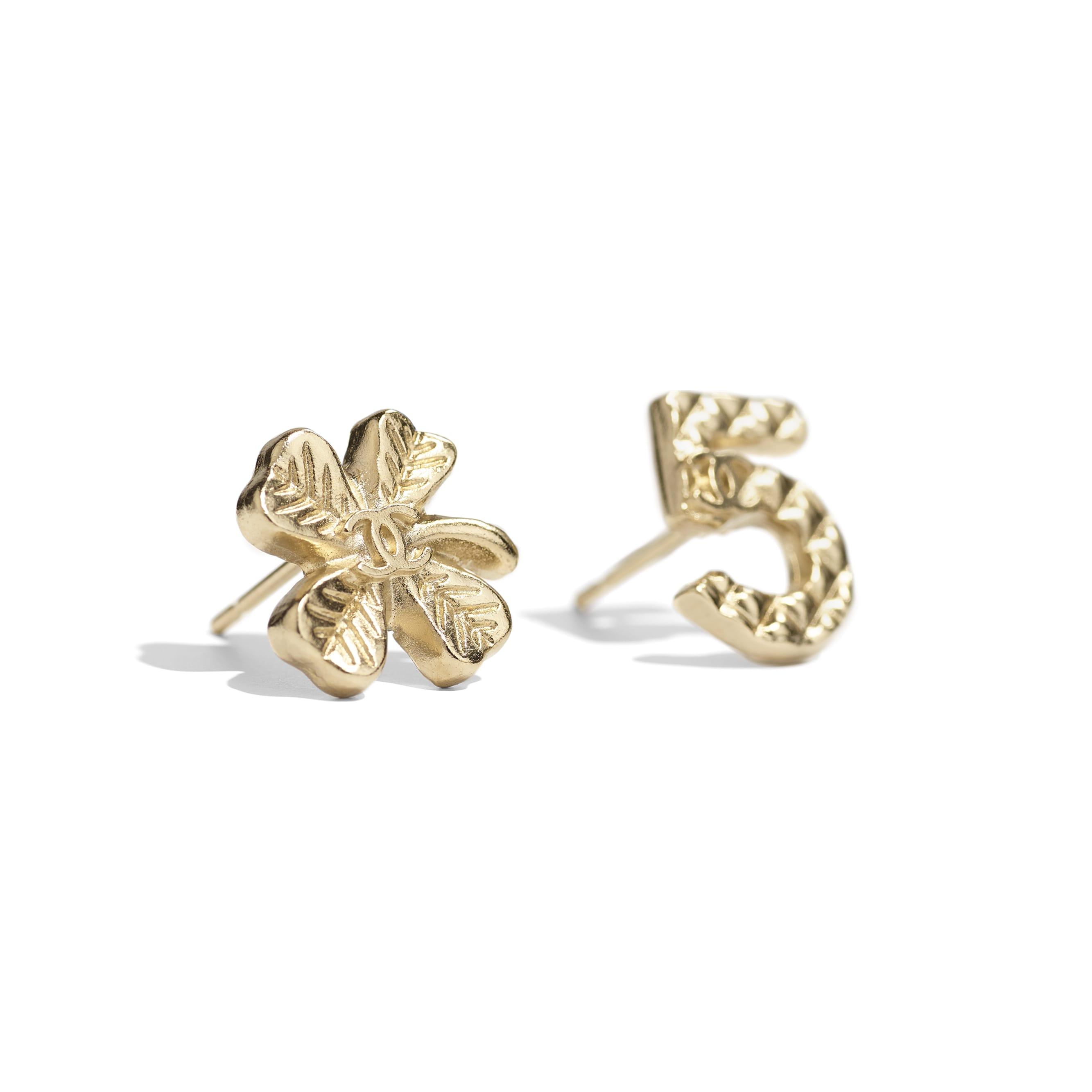 Earrings - Gold - Metal - CHANEL - Alternative view - see standard sized version