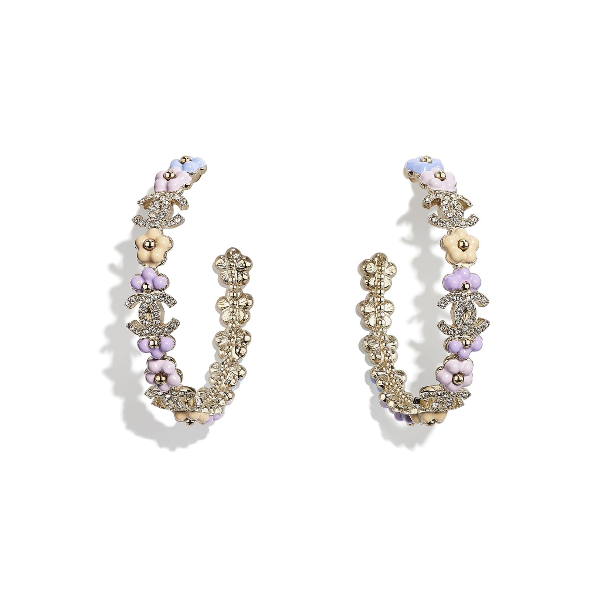 Earrings - Gold, Multicolour & Crystal - Metal & Diamantés - CHANEL - Default view - see standard sized version