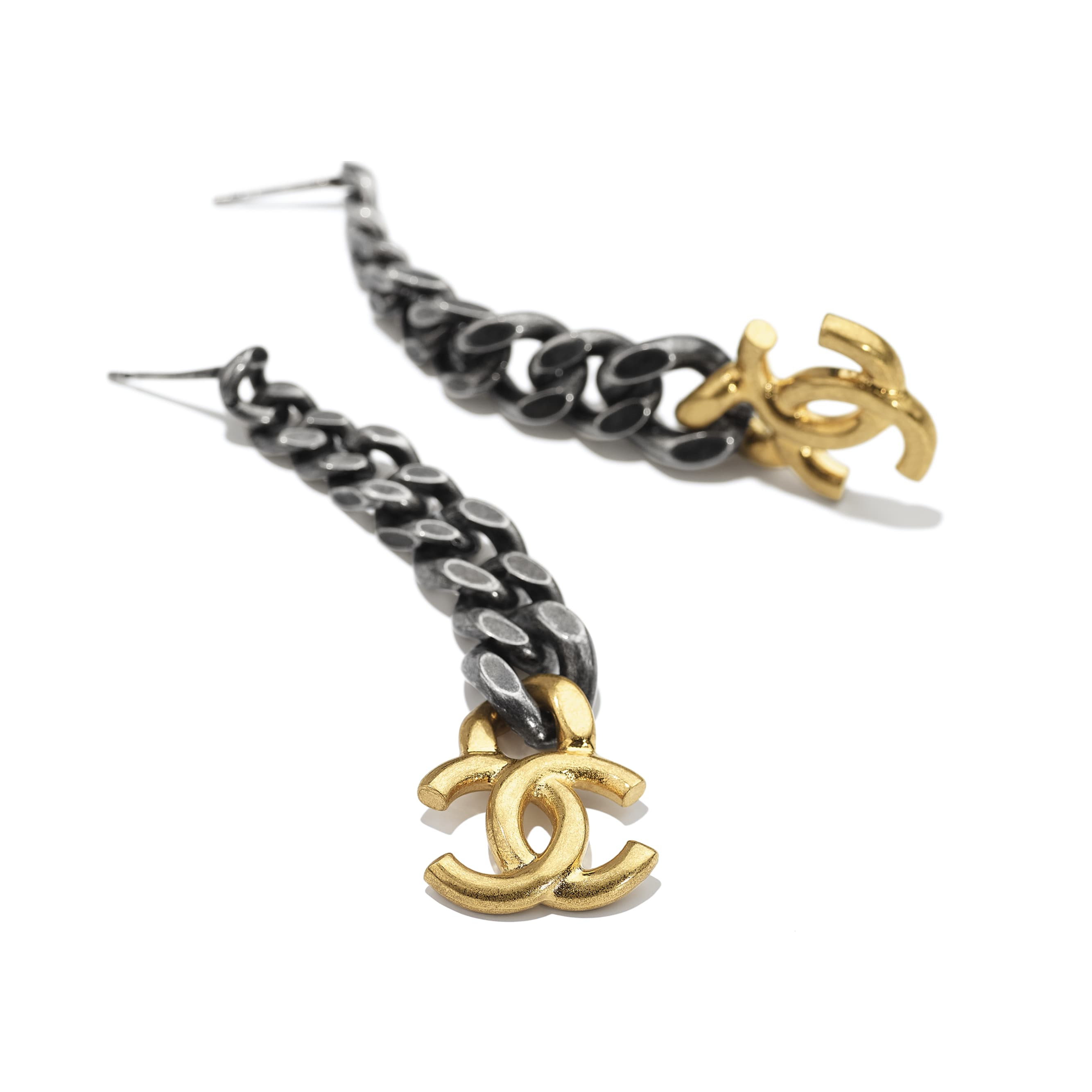 Earrings - Gold & Ruthenium - Metal - CHANEL - Alternative view - see standard sized version