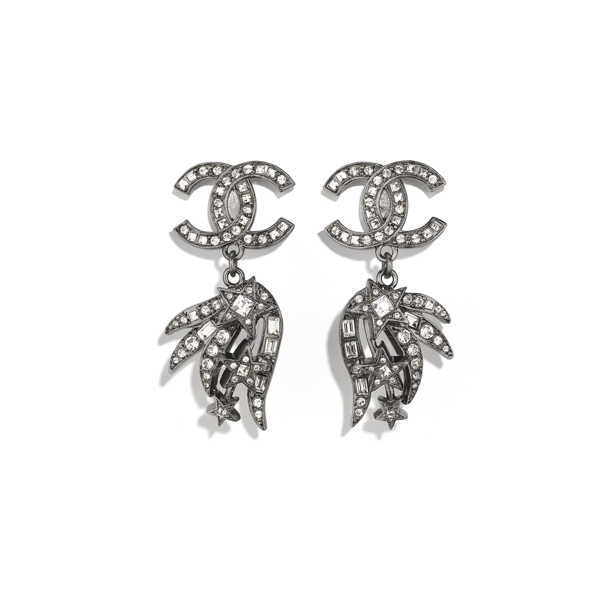 Earrings - Ruthenium & Crystal - Metal & Strass - CHANEL - Default view - see standard sized version