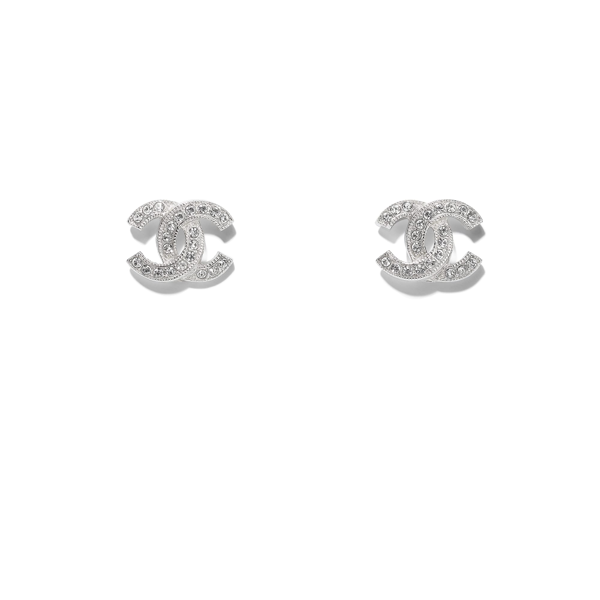 Earrings - Silver & Crystal - Metal & Diamantés - CHANEL - Default view - see standard sized version