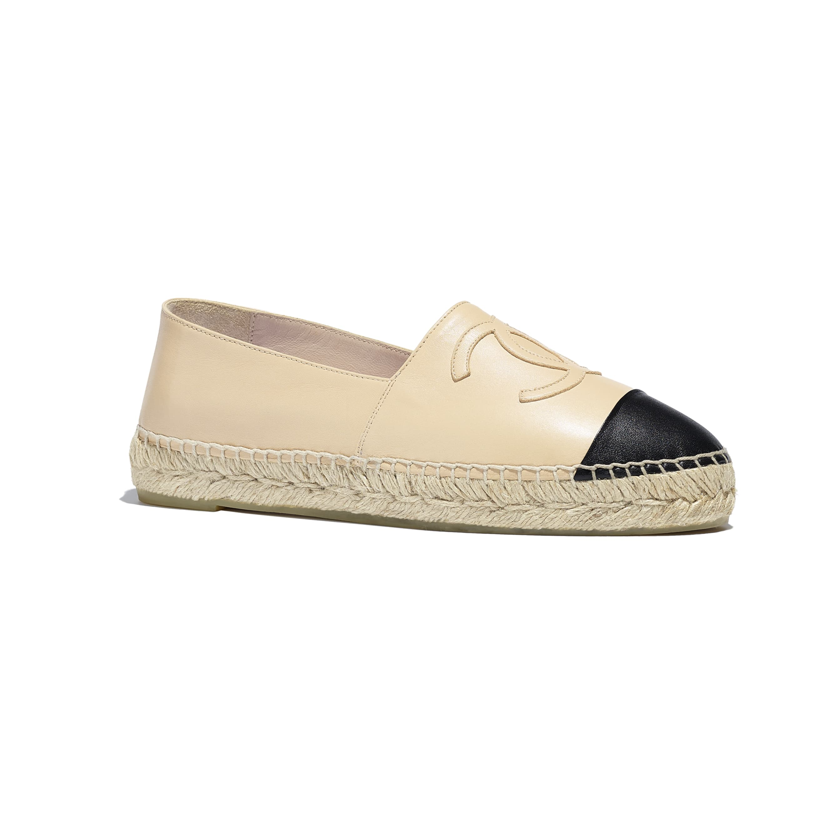 Espadrilles - Beige & Black - Lambskin - CHANEL - Alternative view - see standard sized version