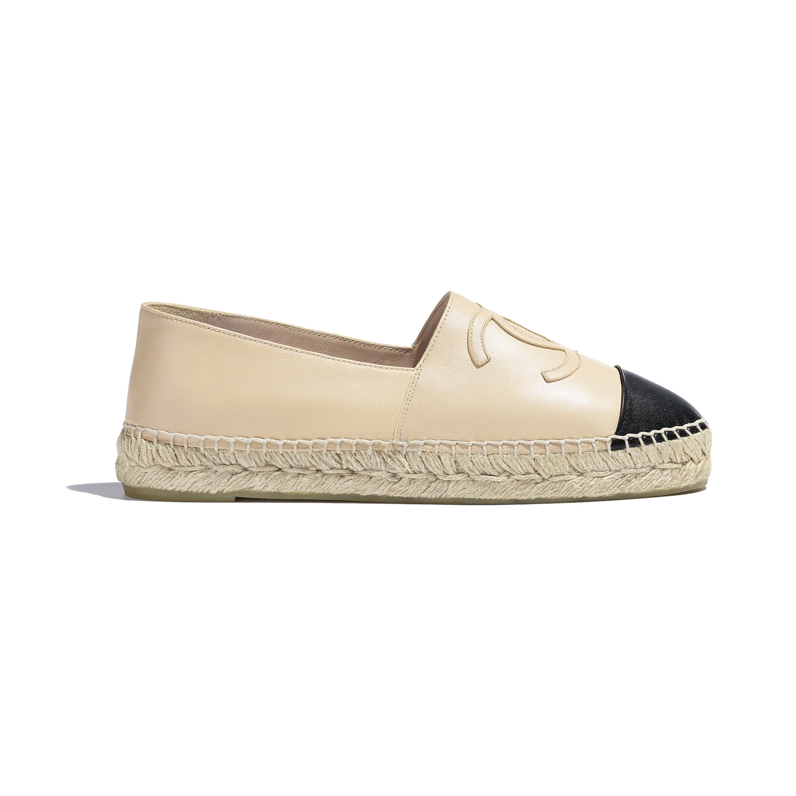 Espadrilles - Beige & Black - Lambskin - CHANEL - Default view - see standard sized version