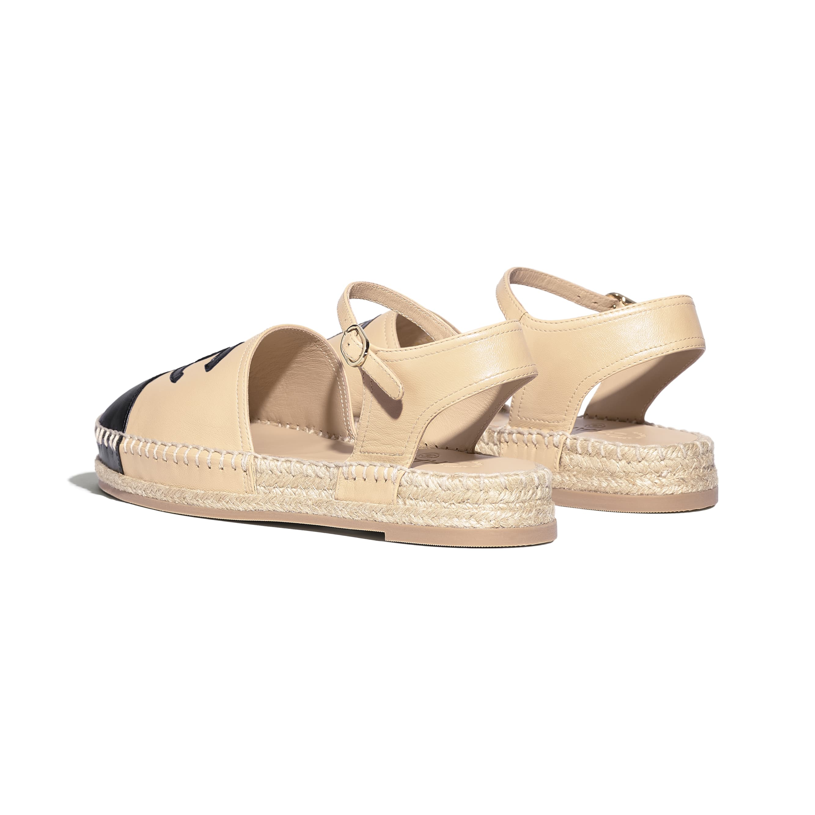 Espadrilles - Beige & Black - Lambskin - Other view - see standard sized version