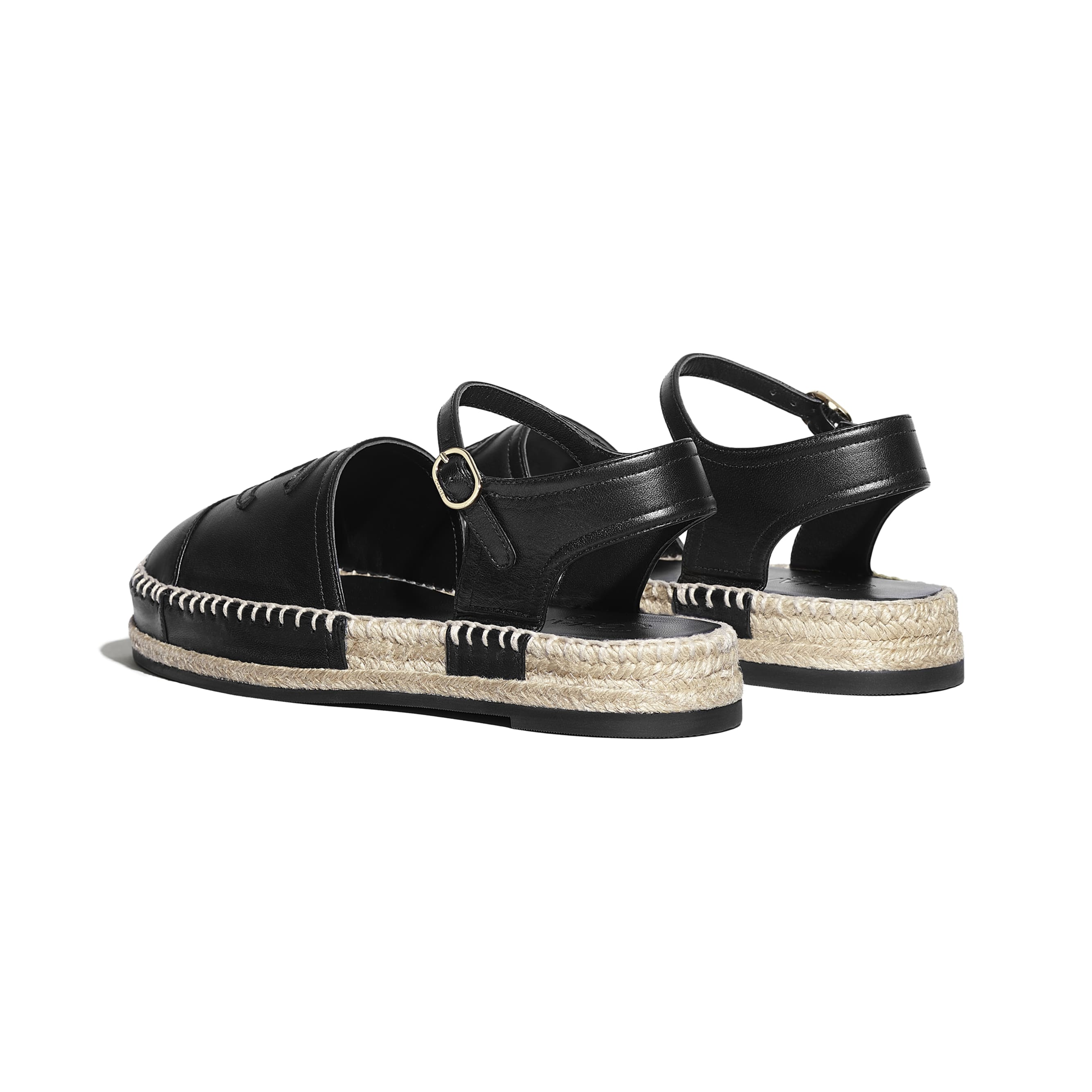 Espadrilles - Black - Lambskin - CHANEL - Other view - see standard sized version