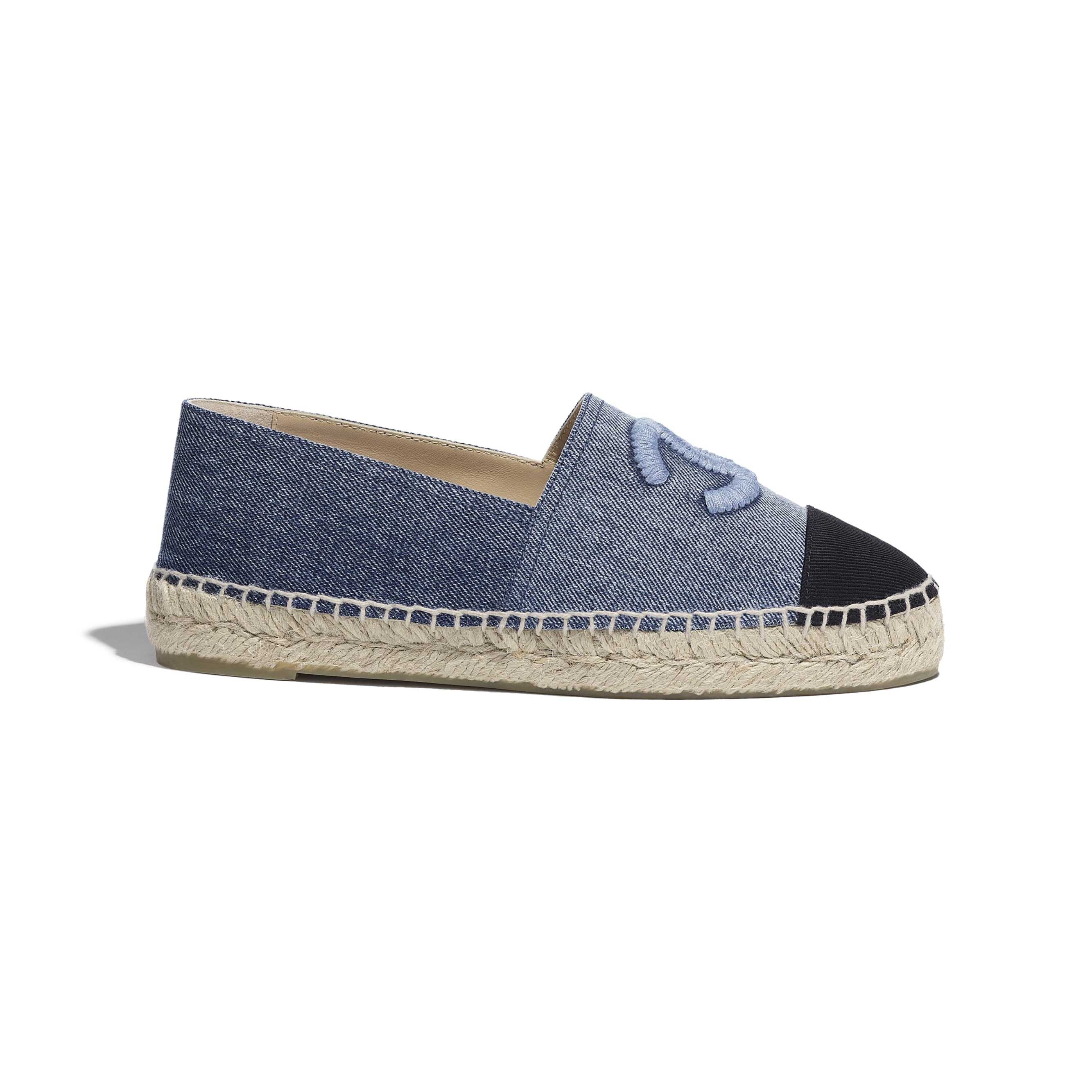 Espadrilles - Blue & Black - Denim - CHANEL - Default view - see standard sized version