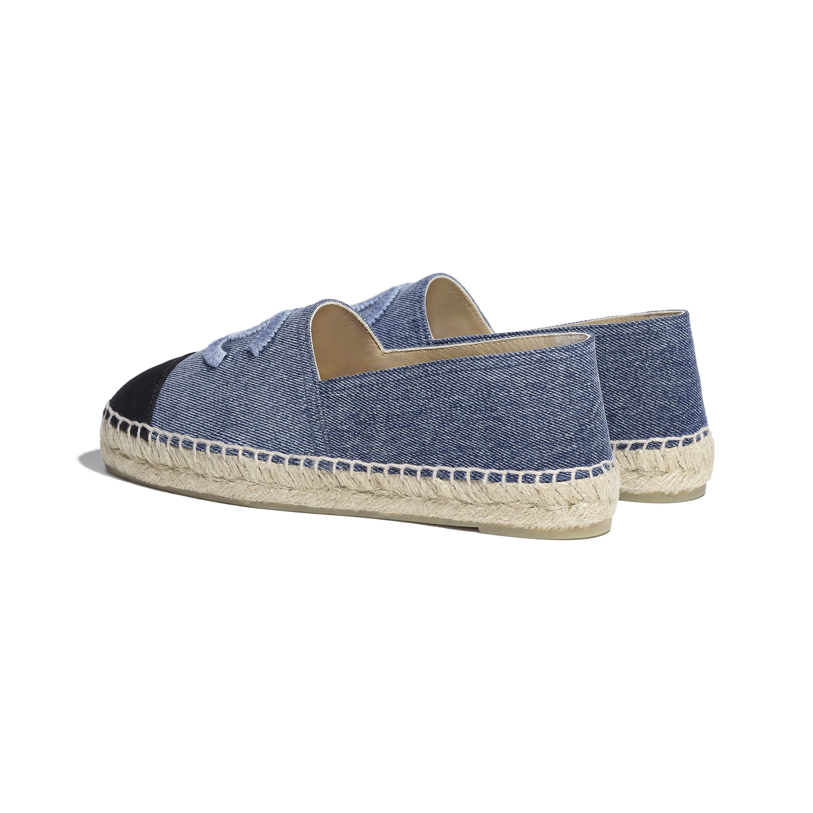 Espadrilles - Blue & Black - Denim - CHANEL - Other view - see standard sized version