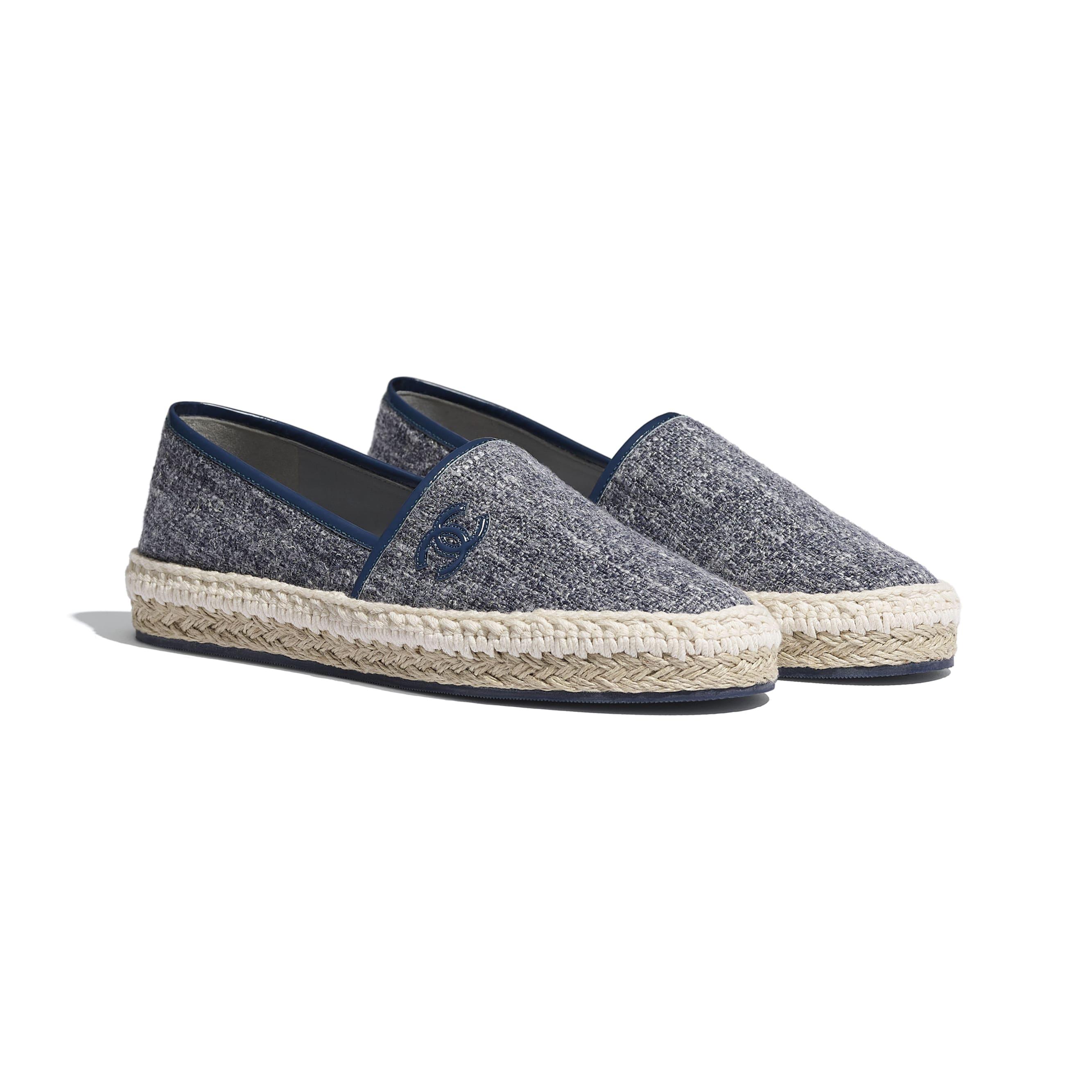Espadrilles - Blue & Gray - Fabric & Patent Calfskin - CHANEL - Alternative view - see standard sized version