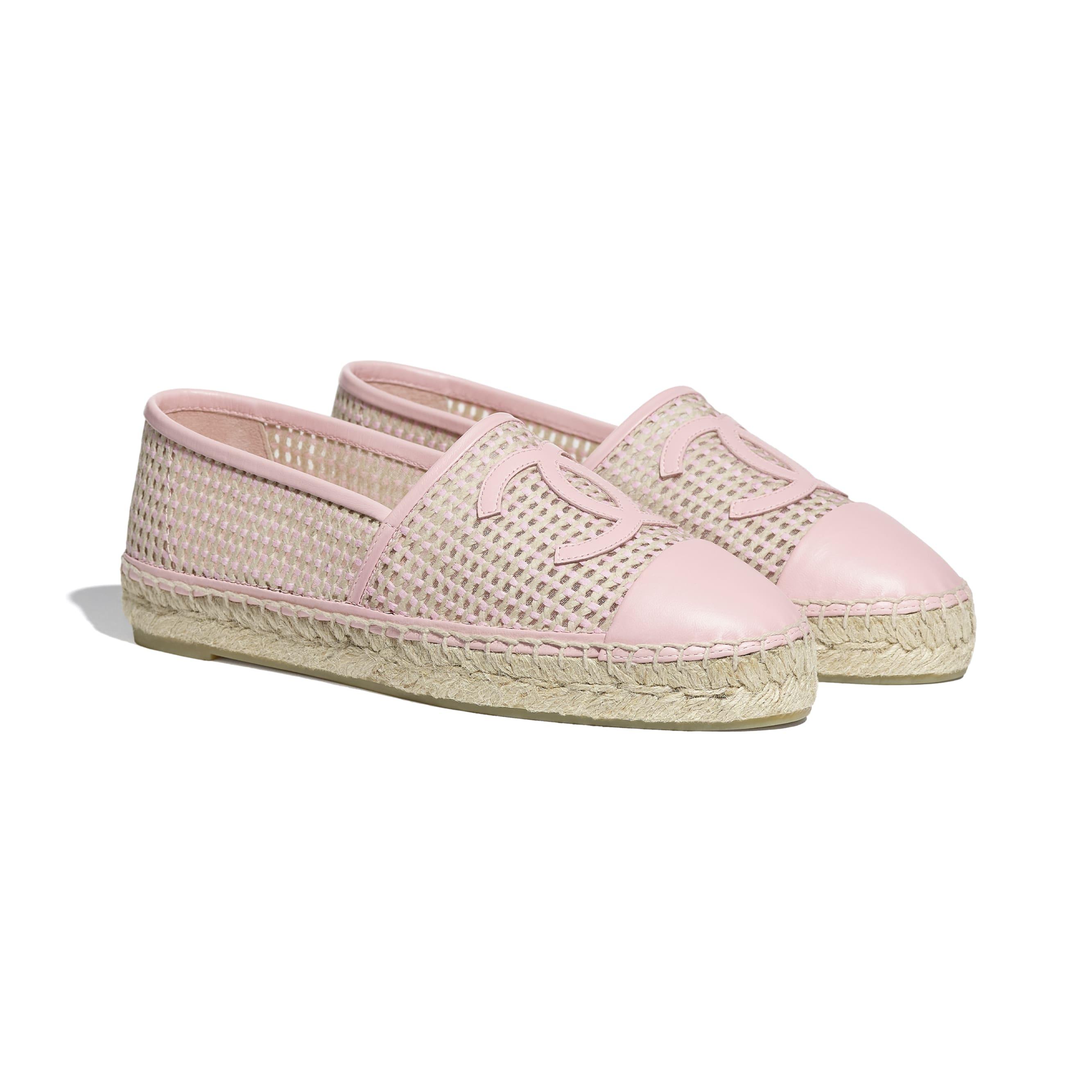 Espadrilles - Light Pink & Beige - Mesh & Lambskin - CHANEL - Alternative view - see standard sized version