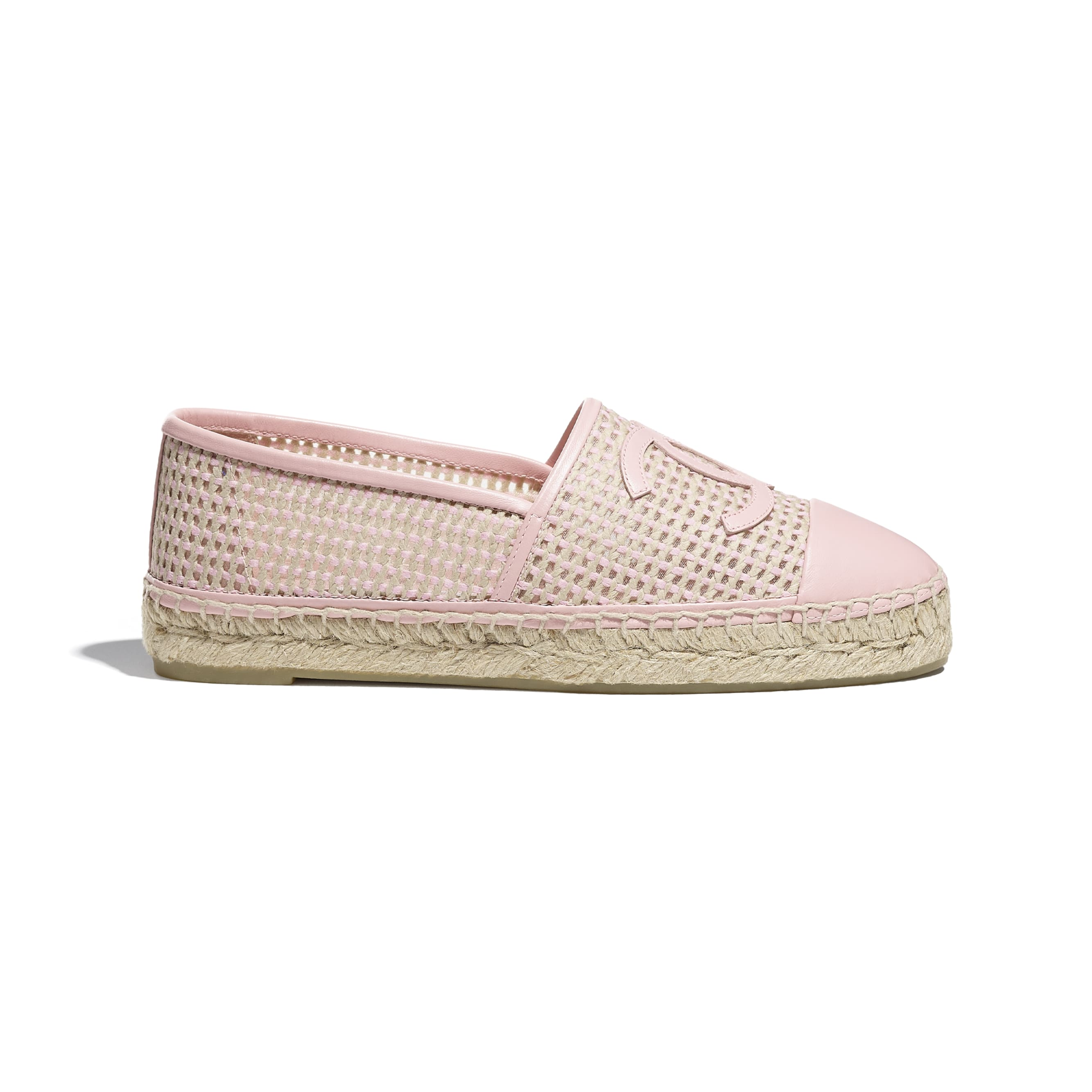 Espadrilles - Light Pink & Beige - Mesh & Lambskin - CHANEL - Default view - see standard sized version