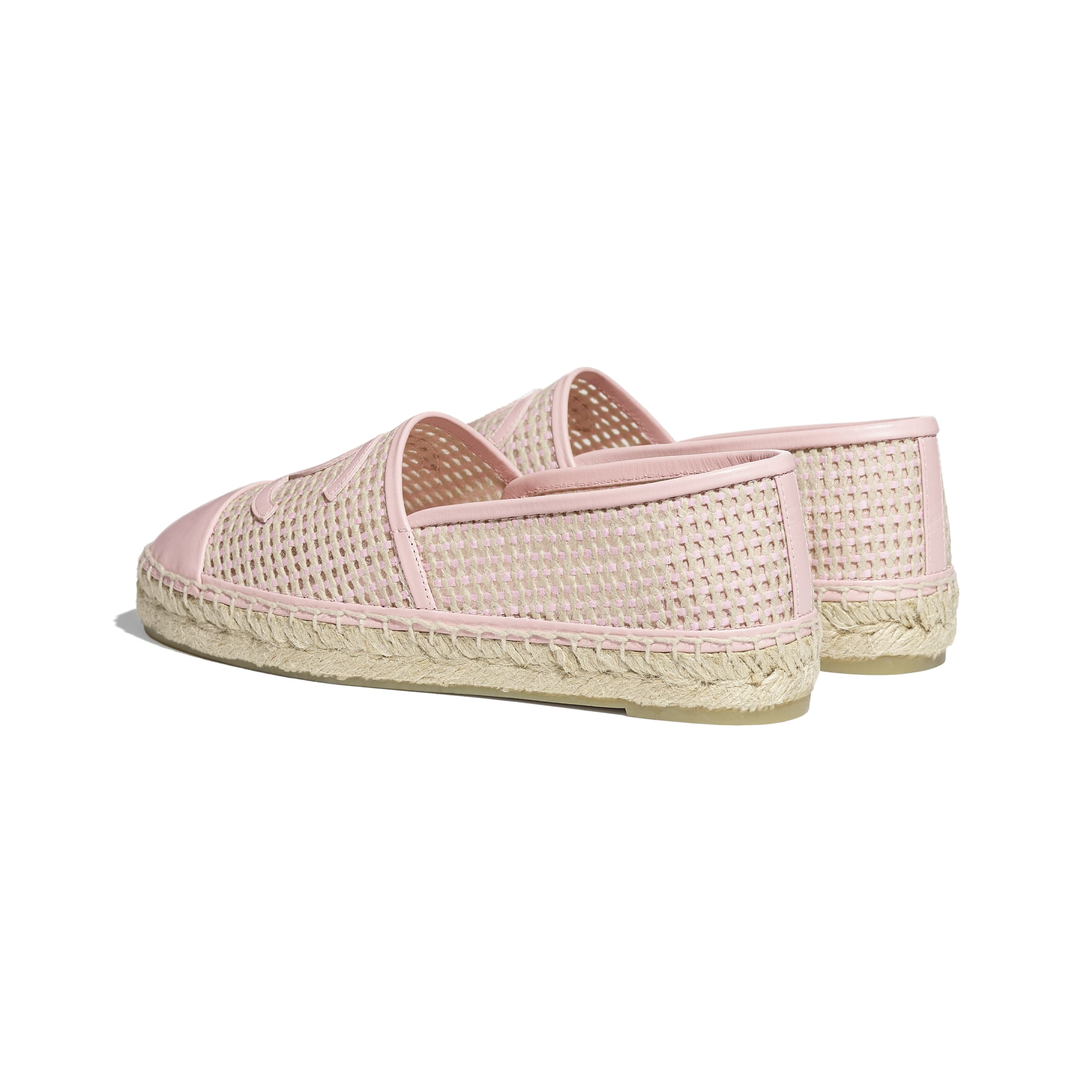 Espadrilles - Light Pink & Beige - Mesh & Lambskin - CHANEL - Other view - see standard sized version
