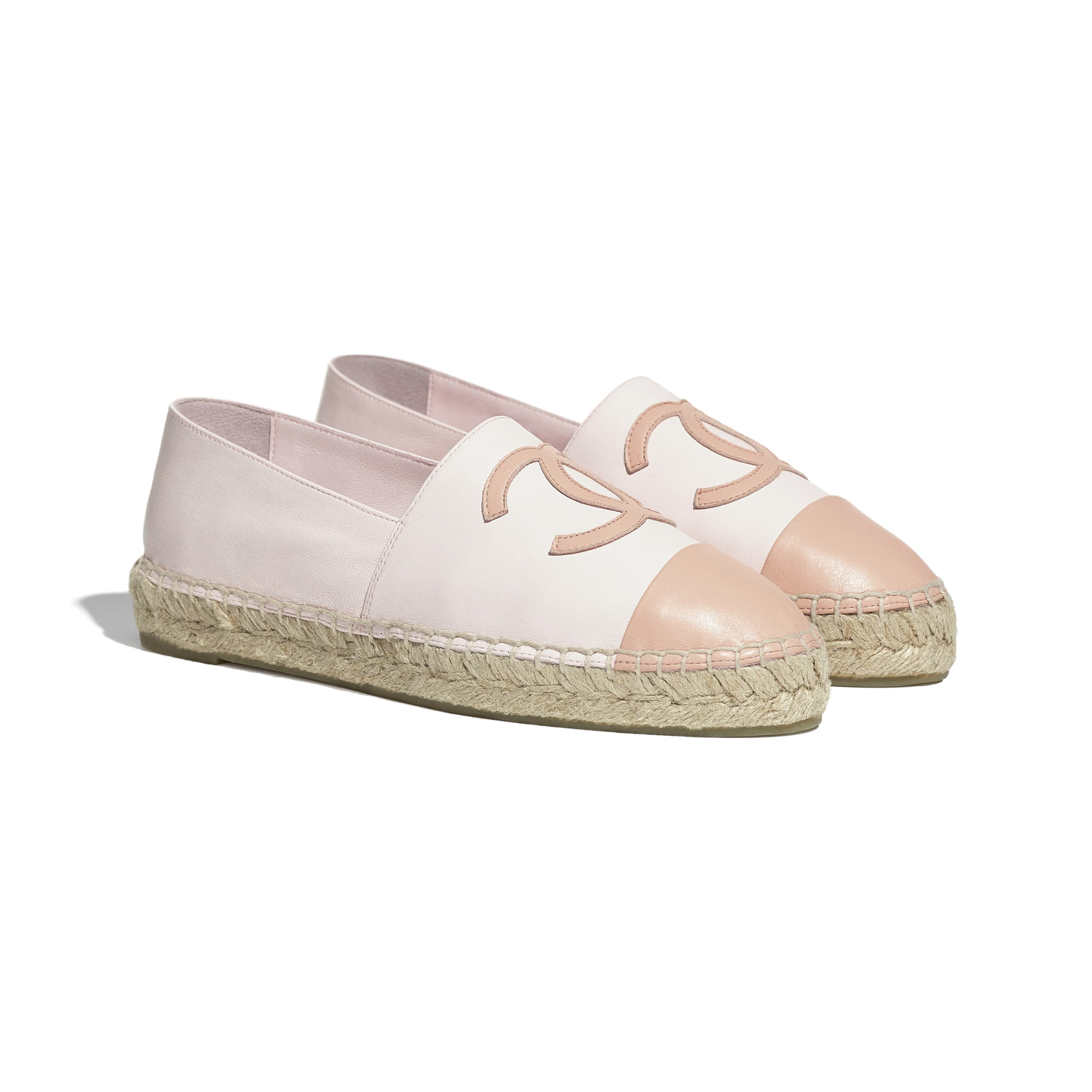 Espadrilles - Light Pink - Lambskin - CHANEL - Alternative view - see standard sized version