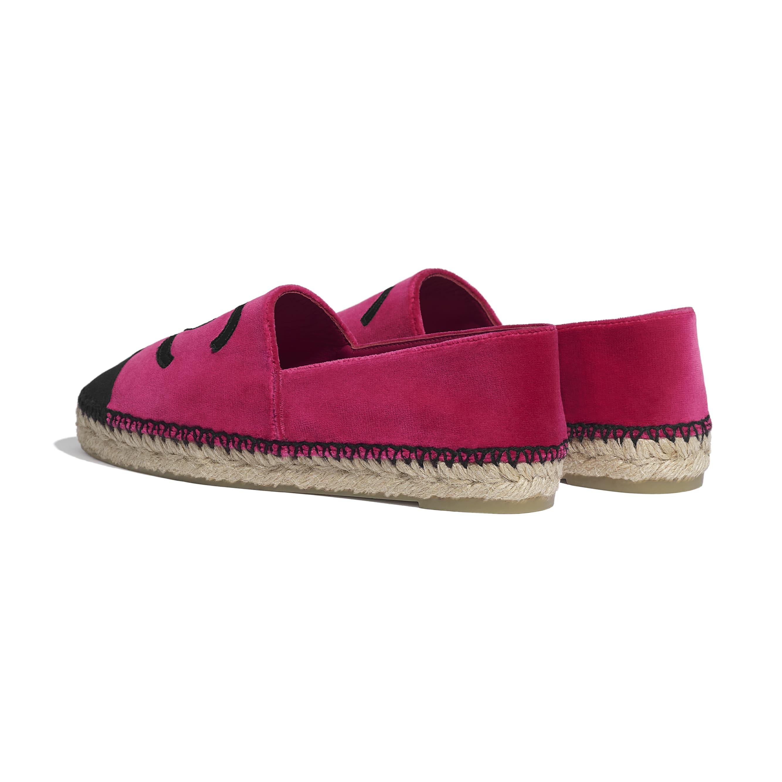 รองเท้าเอสพาดริลล์ - สีชมพูและสีดำ - CHANEL - มุมมองอื่น - ดูเวอร์ชันขนาดมาตรฐาน