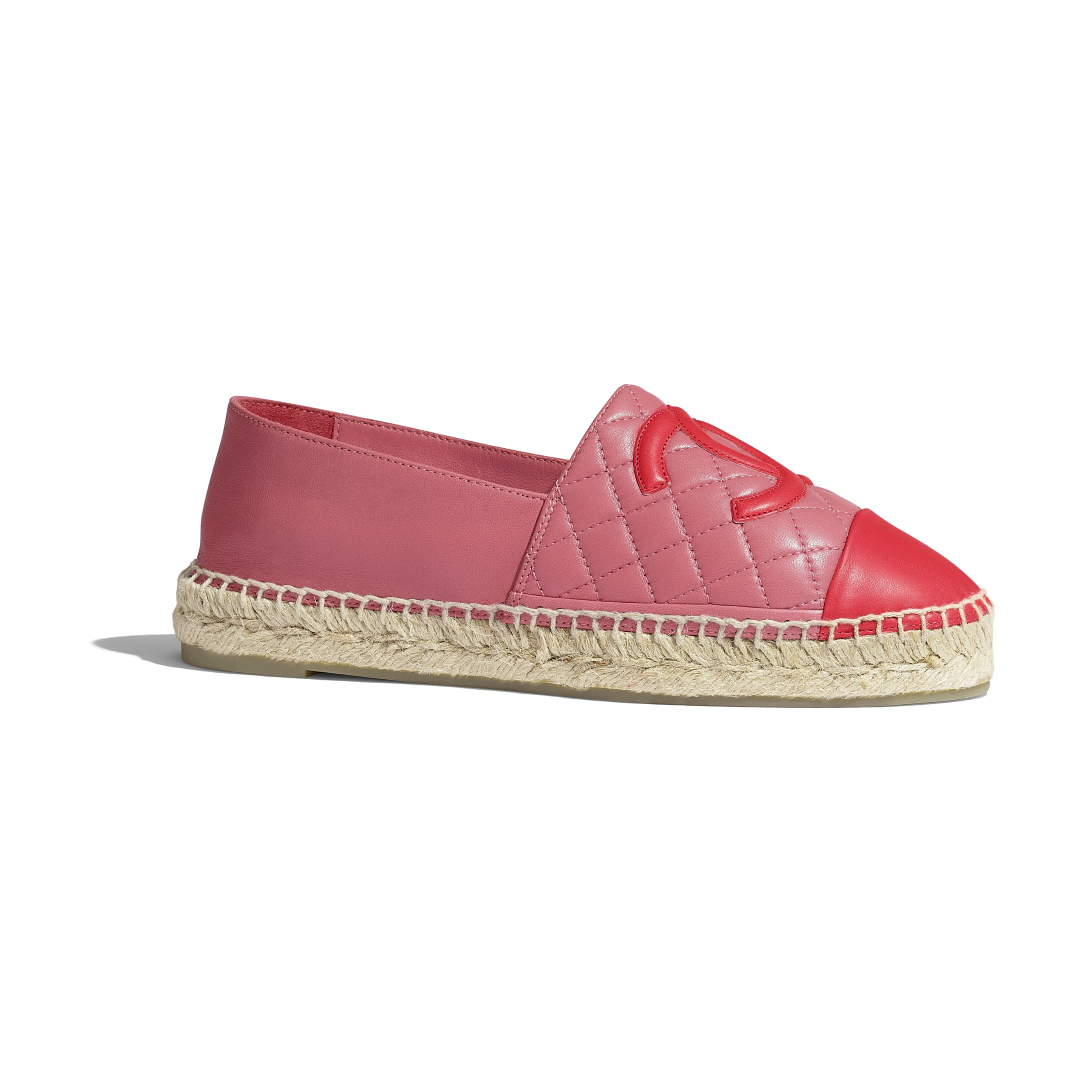 Espadrilles - Pink & red - Lambskin - CHANEL - Default view - see standard sized version
