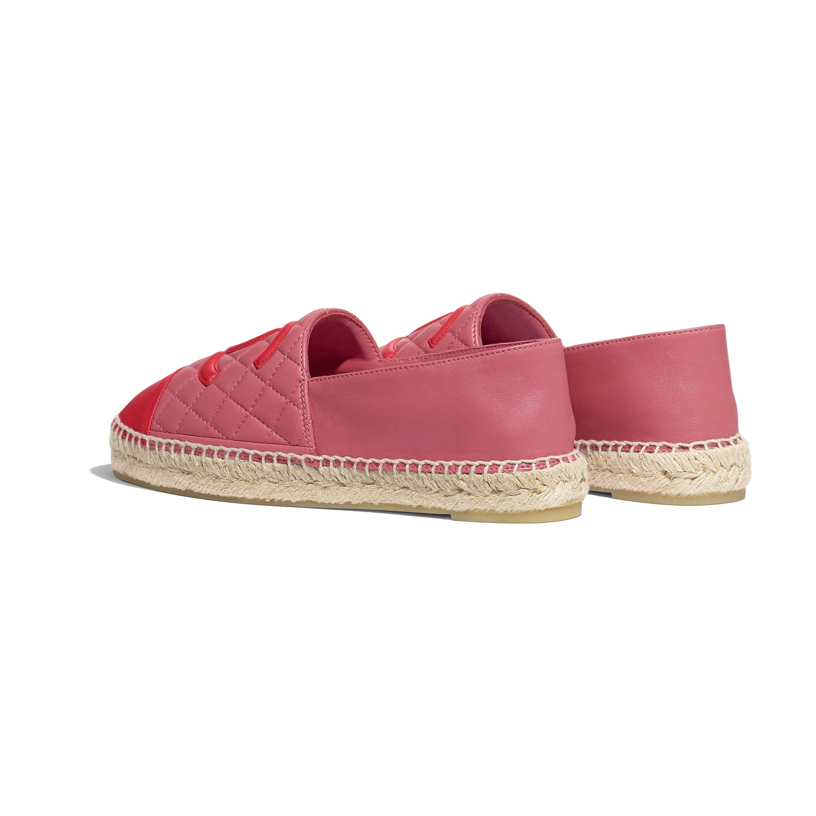 Espadrilles - Pink & red - Lambskin - CHANEL - Other view - see standard sized version