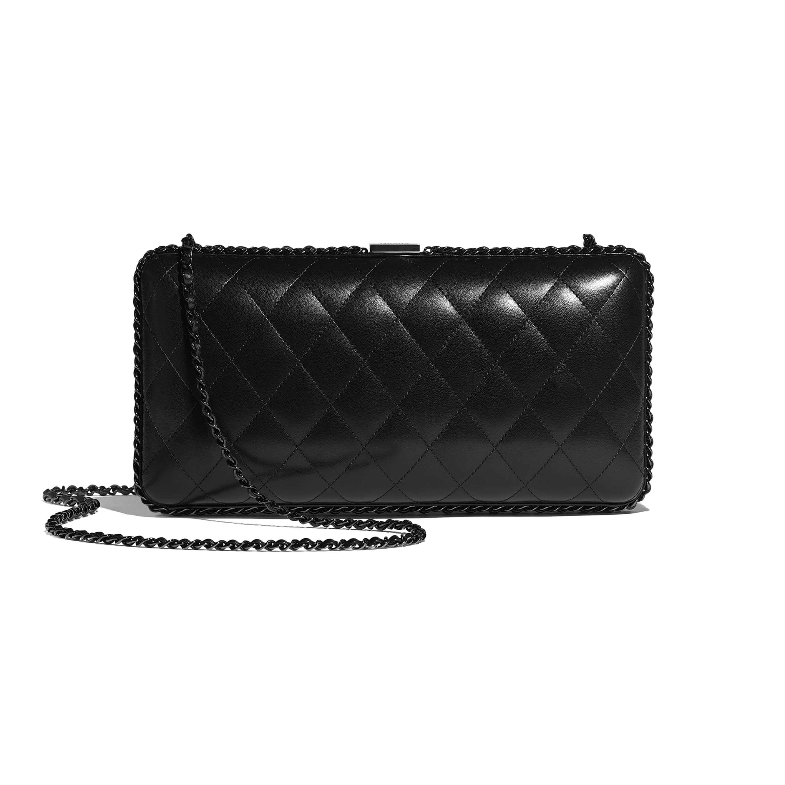 Evening Bag - Black - Lambskin - Alternative view - see standard sized version