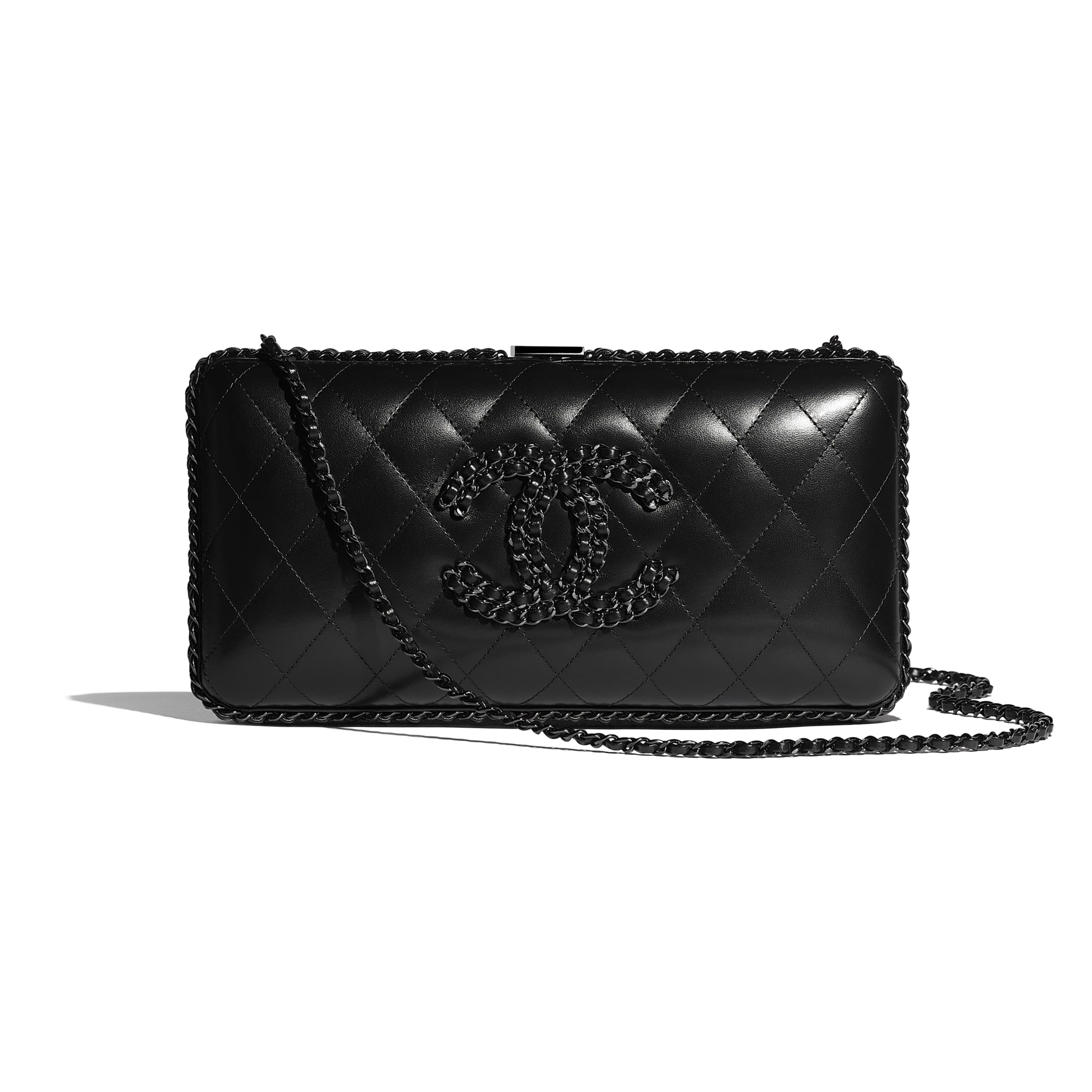 Evening Bag - Black - Lambskin - Default view - see standard sized version