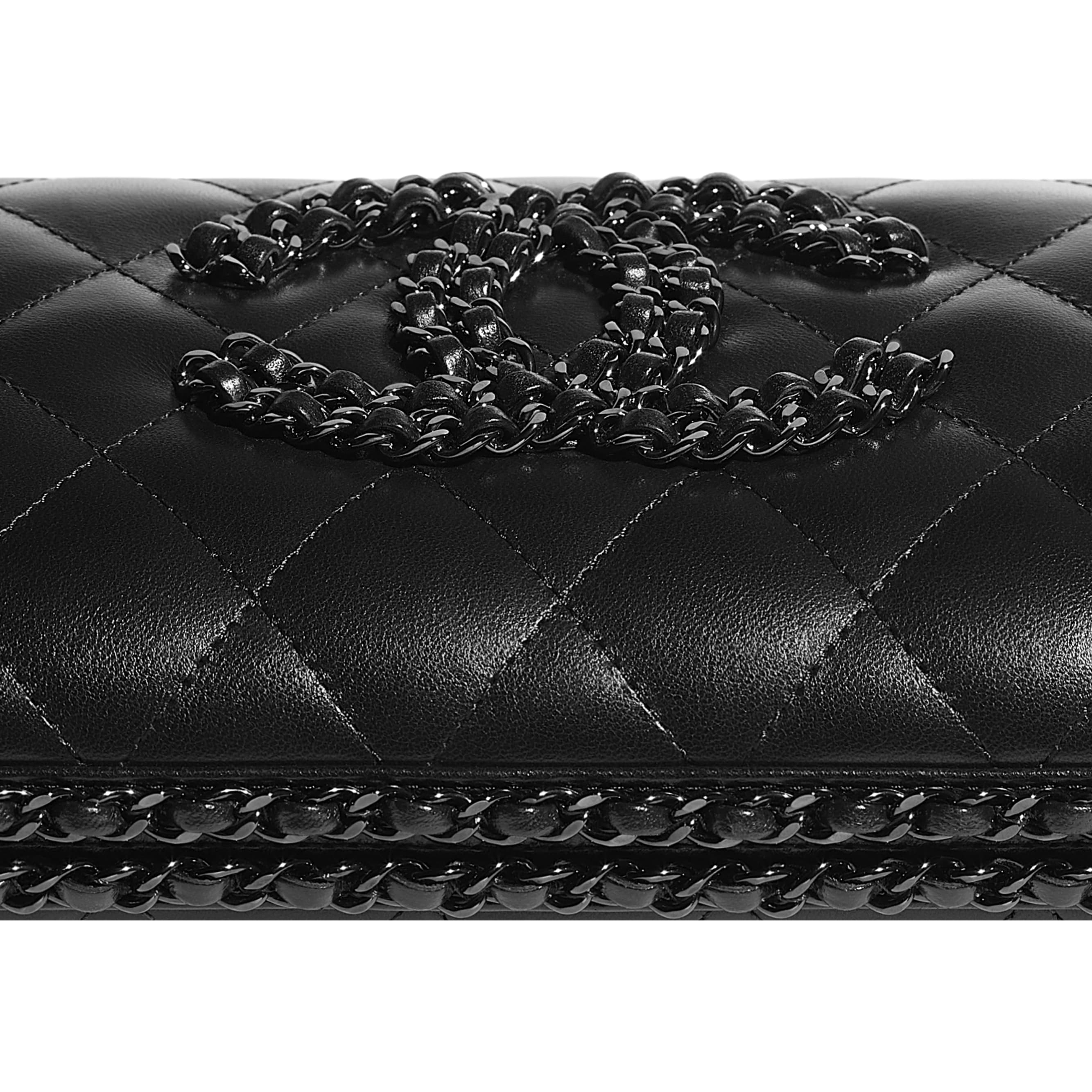 Evening Bag - Black - Lambskin - CHANEL - Extra view - see standard sized version