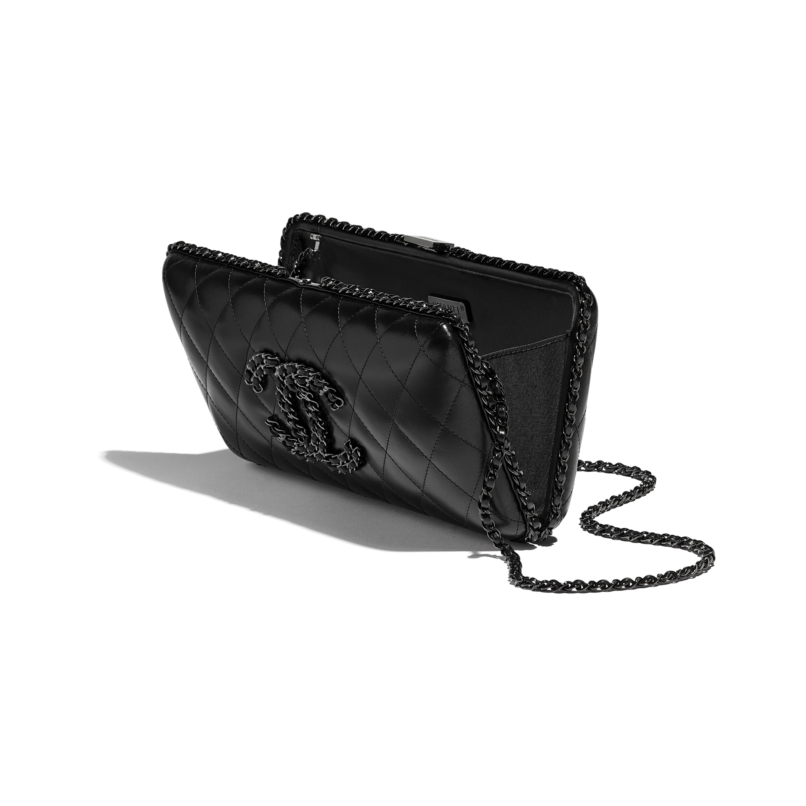 Evening Bag - Black - Lambskin - Other view - see standard sized version
