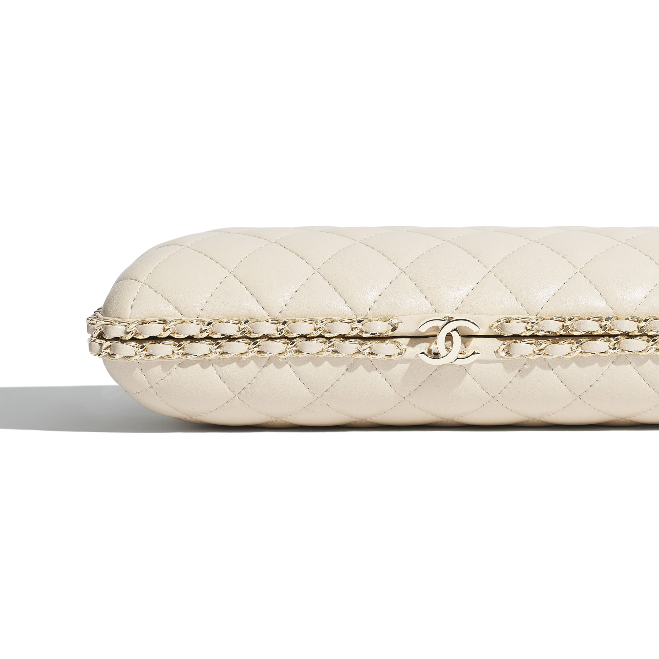 Evening Bag - Light Beige - Lambskin & Gold-Tone Metal - CHANEL - Extra view - see standard sized version