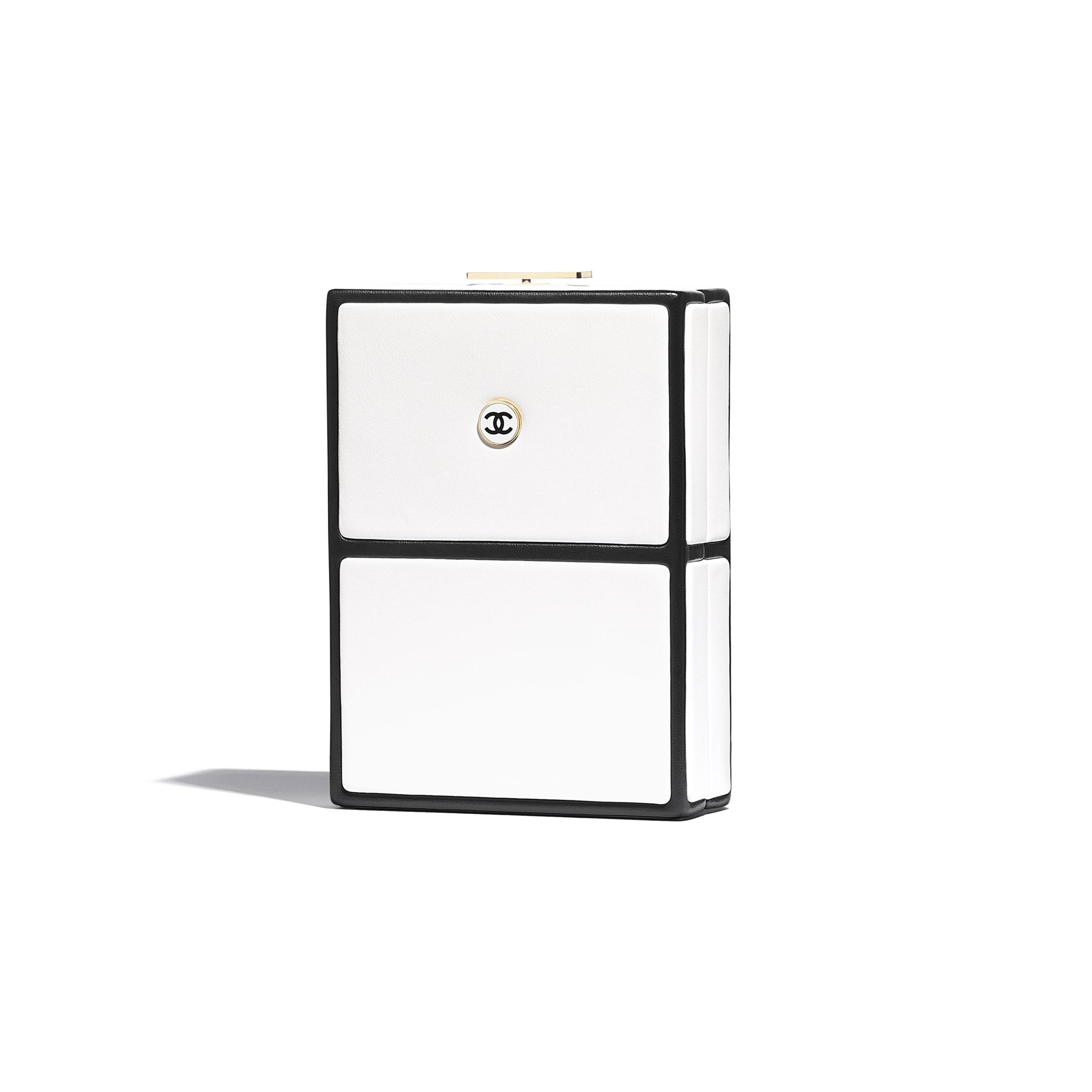 Evening Bag - White & Black - Lambskin - CHANEL - Alternative view - see standard sized version