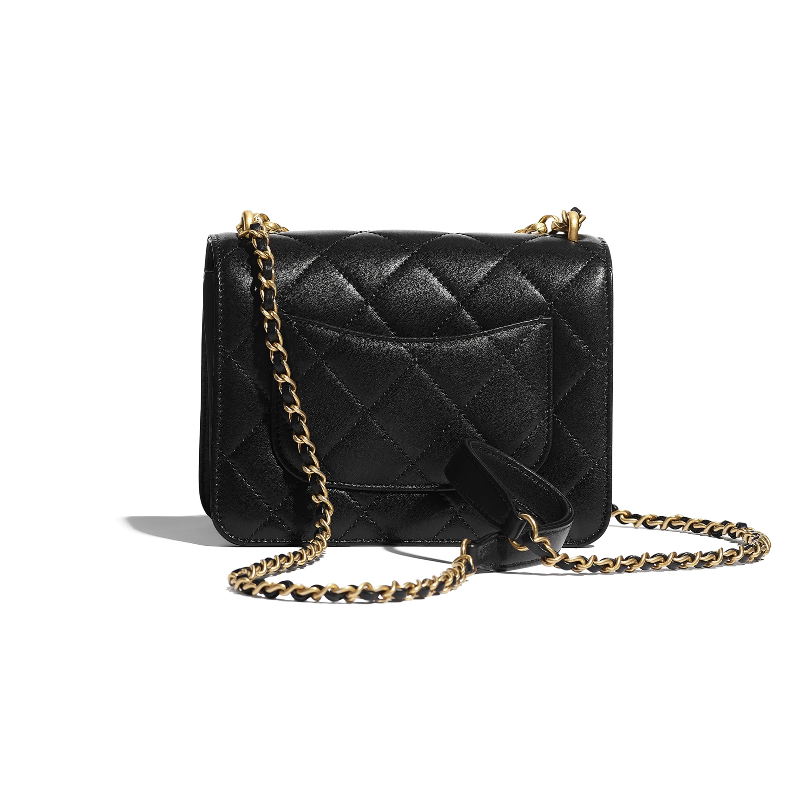 Flap Bag - Black - Calfskin, Onyx, Pearls & Gold-Tone Metal - CHANEL - Alternative view - see standard sized version