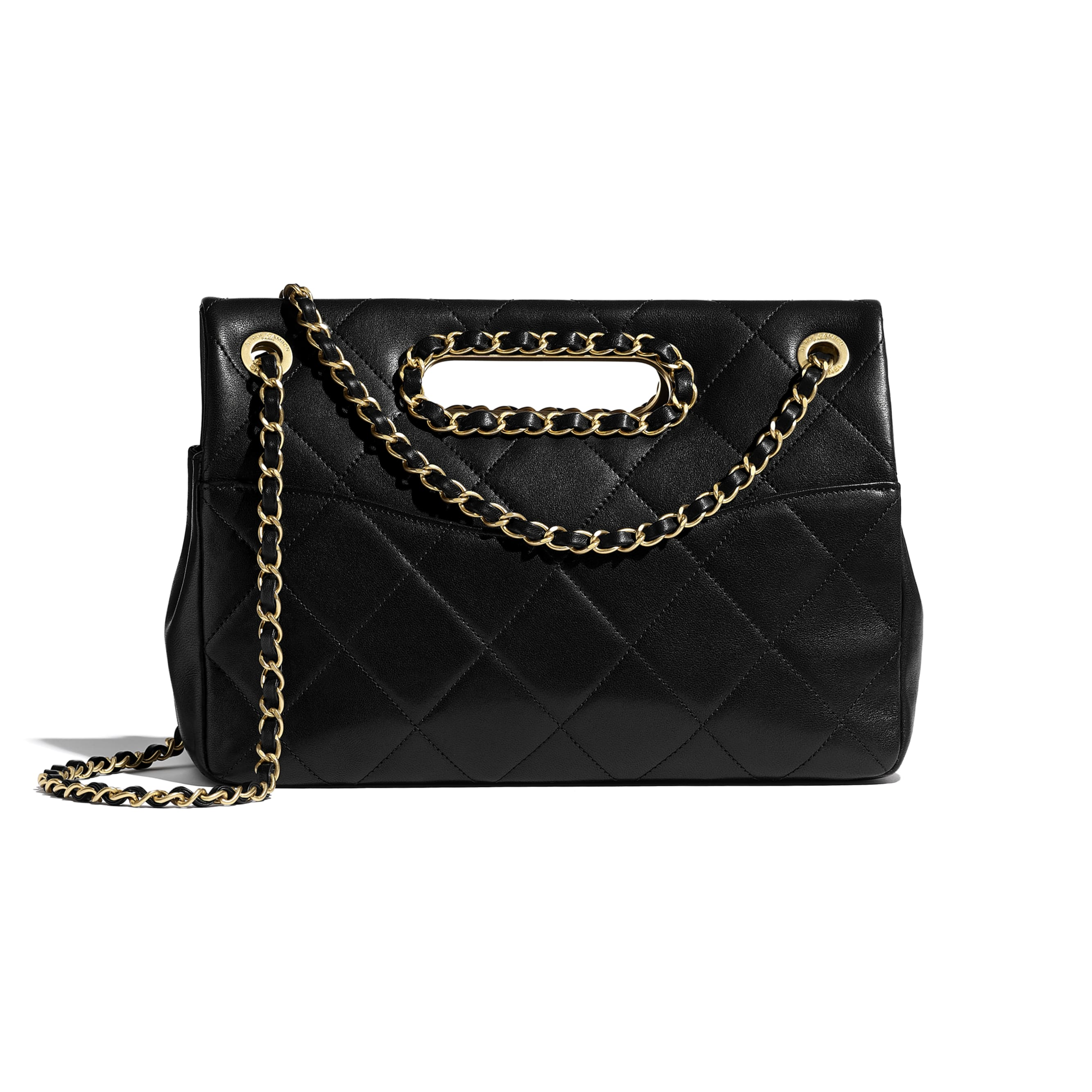 Flap Bag - Black - Lambskin & Gold-Tone Metal - CHANEL - Alternative view - see standard sized version
