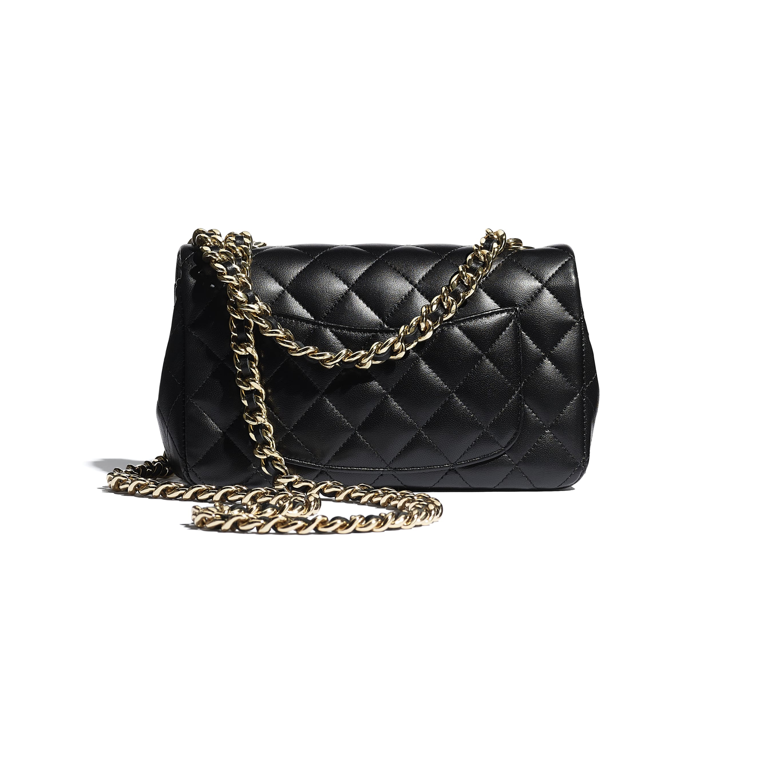 Flap Bag - Black - Lambskin - CHANEL - Alternative view - see standard sized version