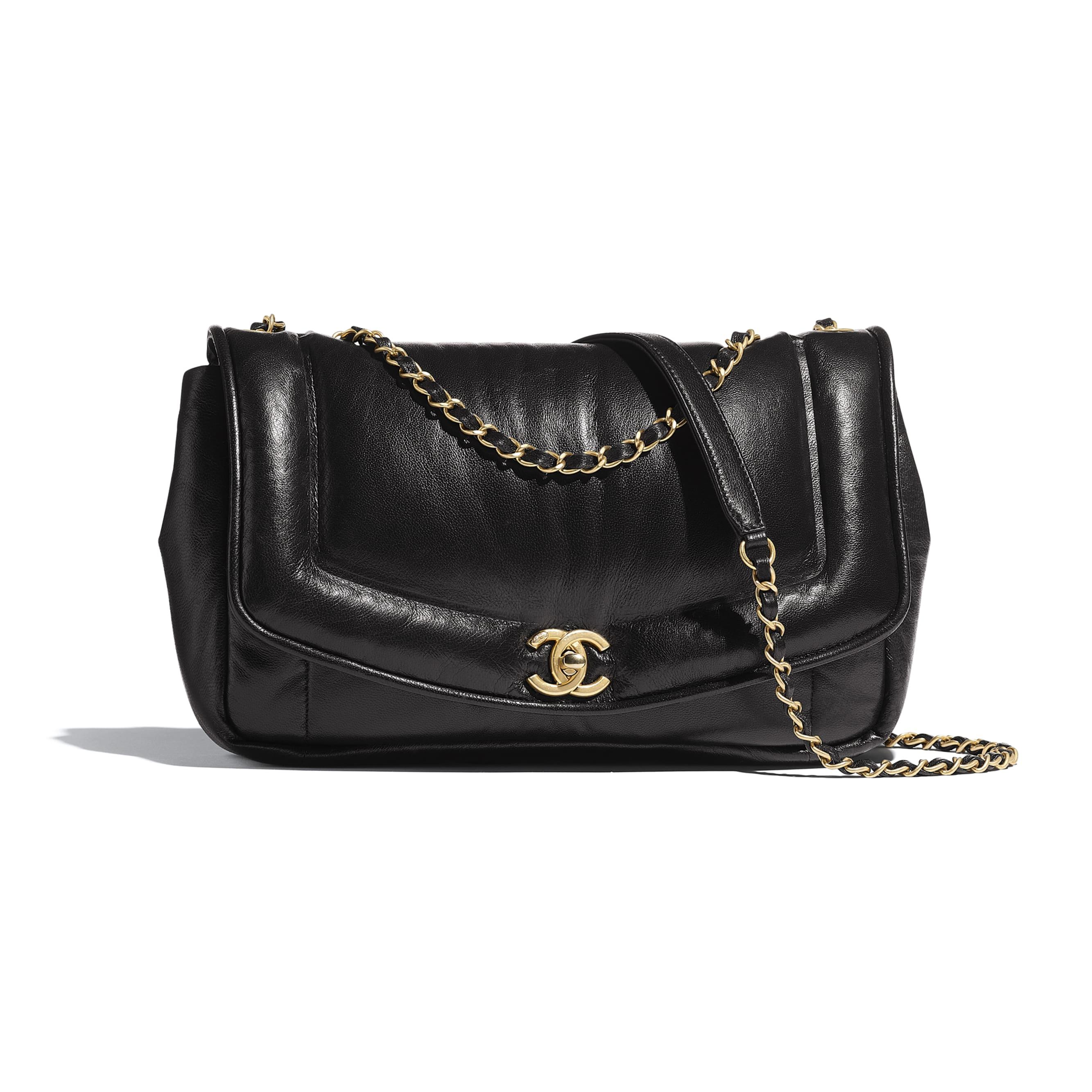 Flap Bag - Black - Lambskin - Default view - see standard sized version