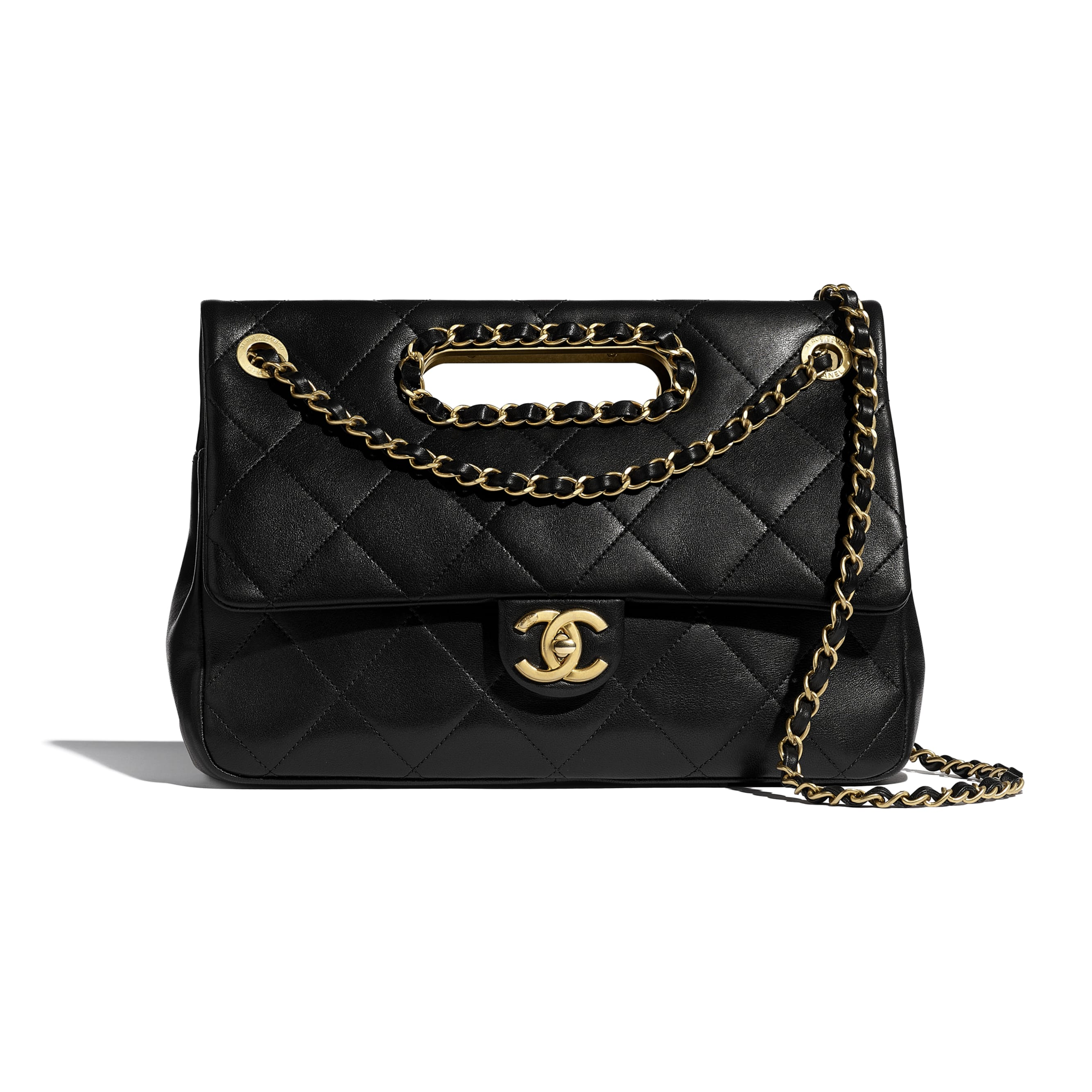Flap Bag - Black - Lambskin & Gold-Tone Metal - CHANEL - Default view - see standard sized version