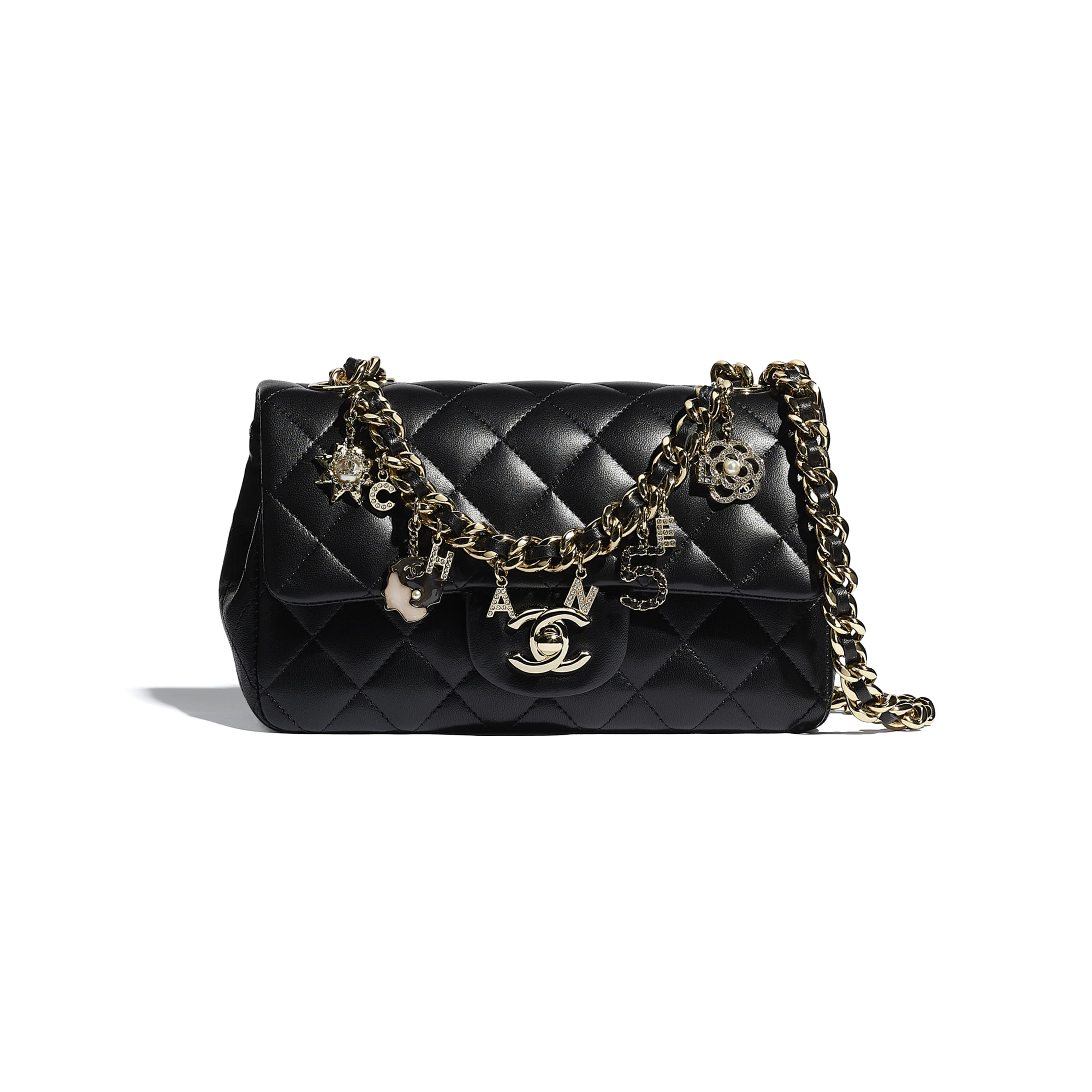 Flap Bag - Black - Lambskin - CHANEL - Default view - see standard sized version
