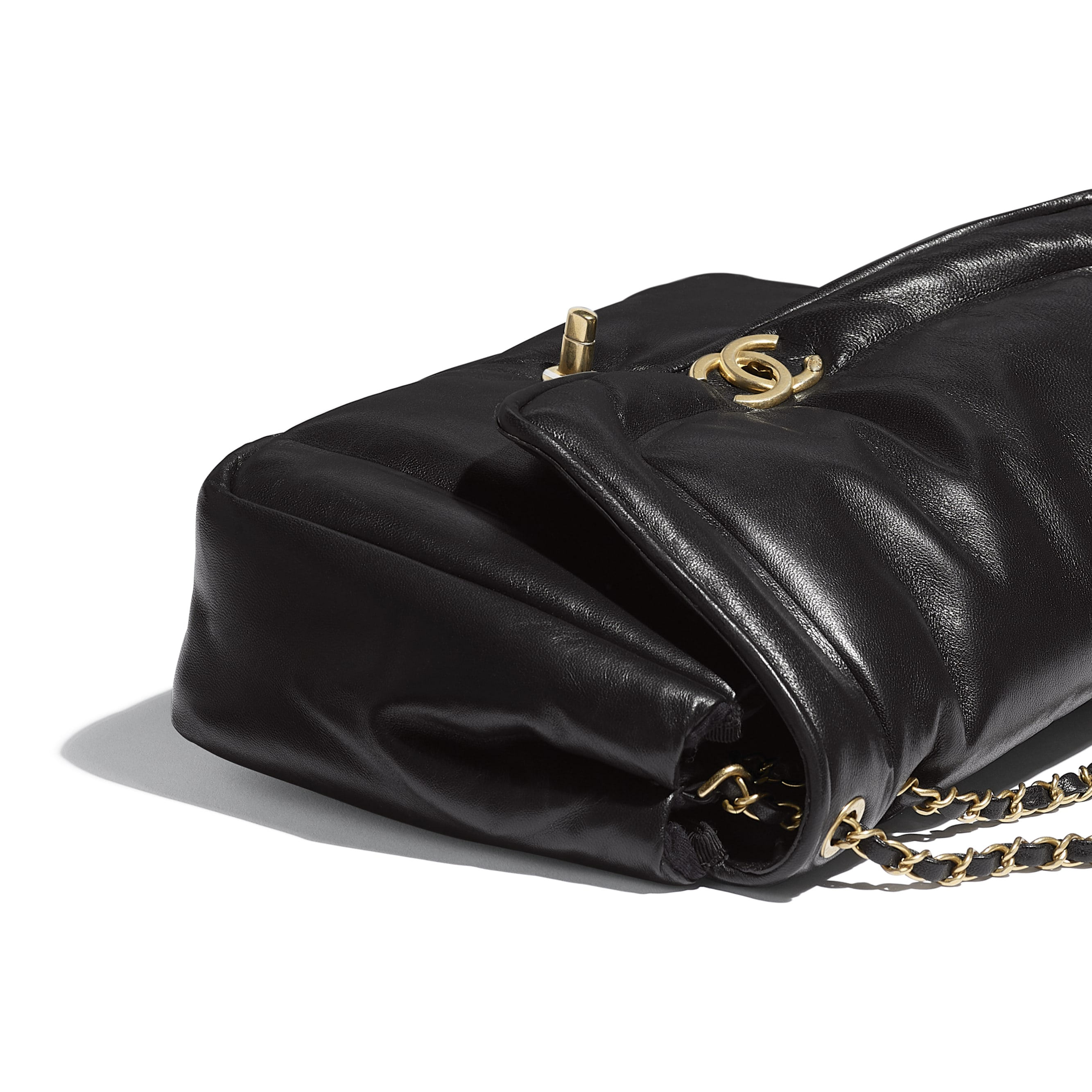 Flap Bag - Black - Lambskin - Extra view - see standard sized version