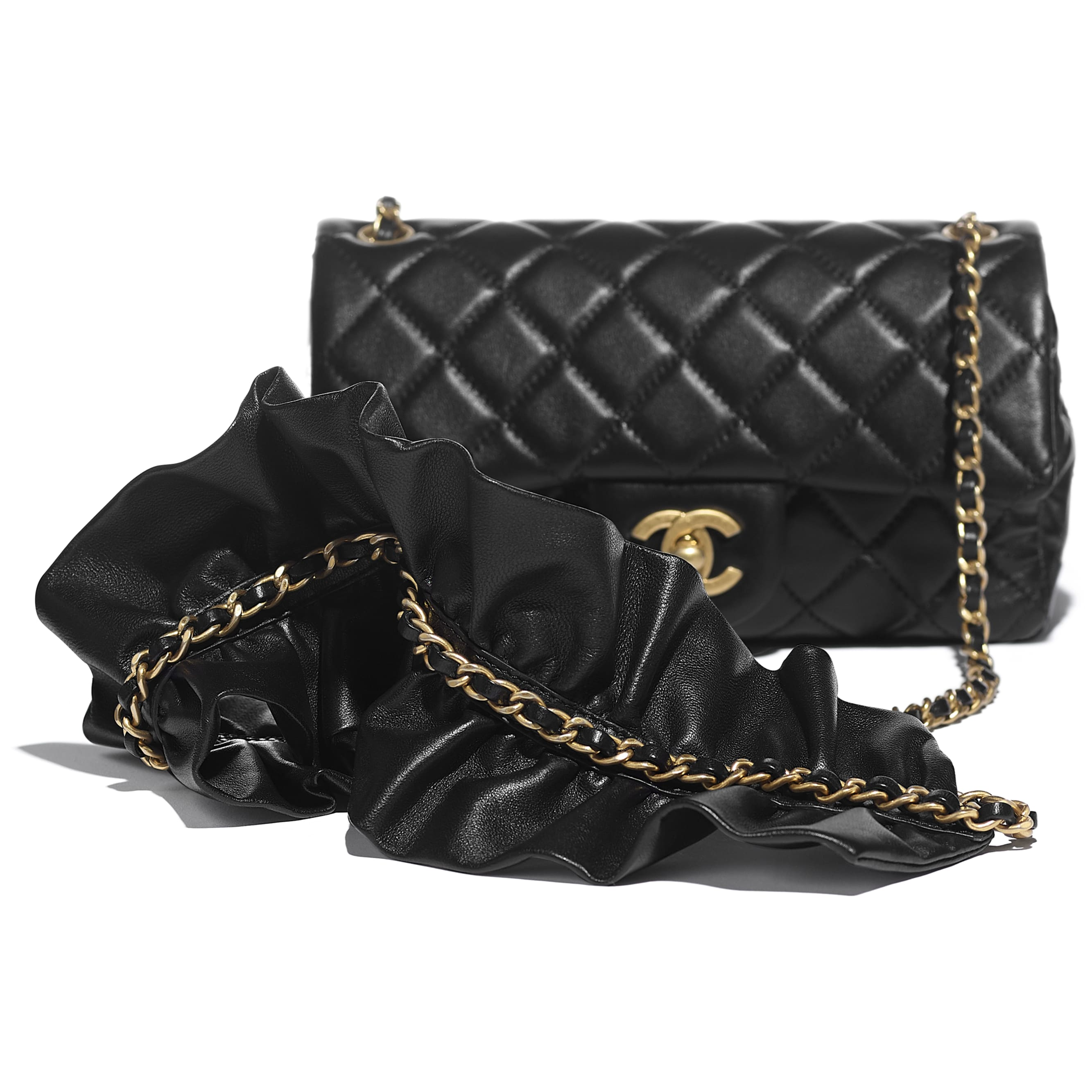 Flap Bag - Black - Lambskin - CHANEL - Extra view - see standard sized version