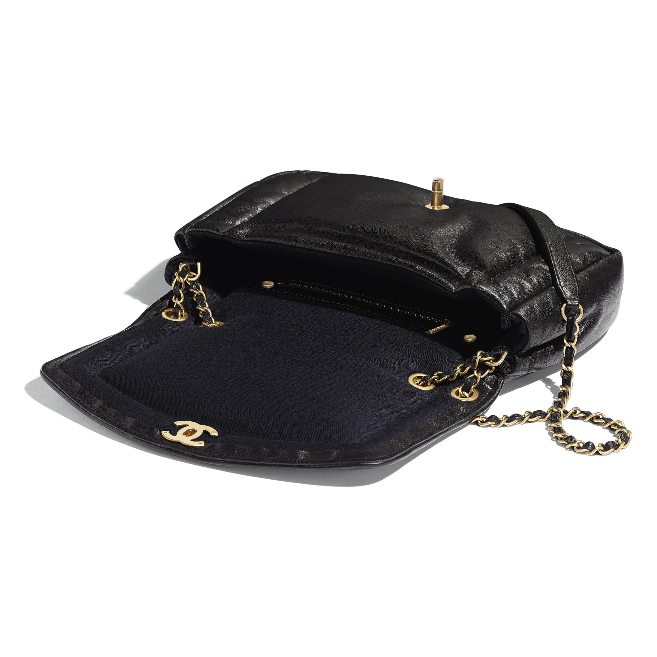 Flap Bag - Black - Lambskin - Other view - see standard sized version