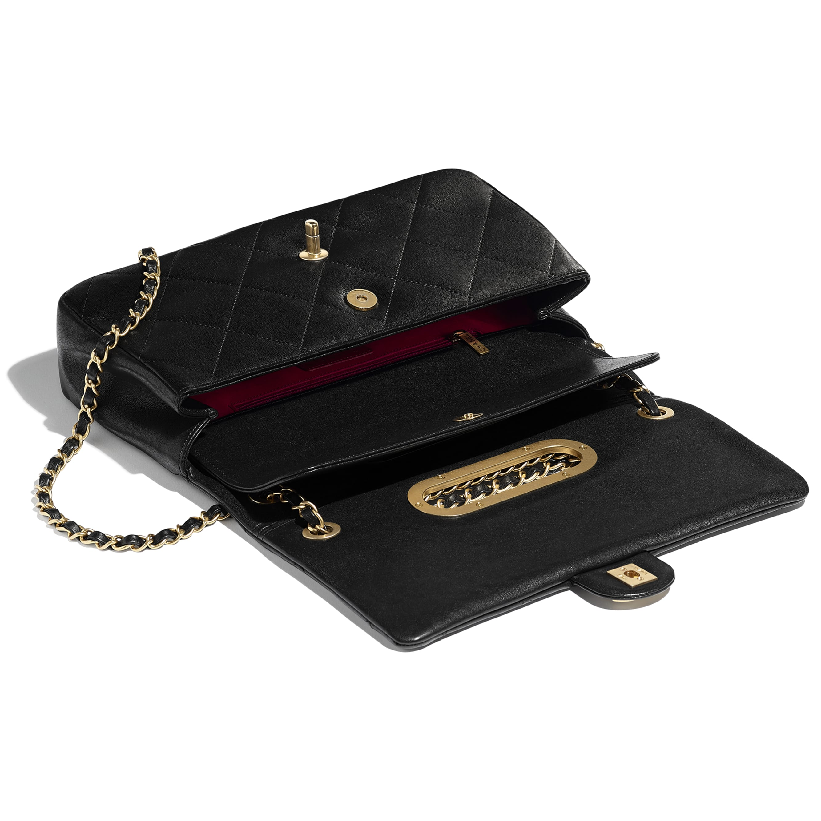 Flap Bag - Black - Lambskin & Gold-Tone Metal - CHANEL - Other view - see standard sized version