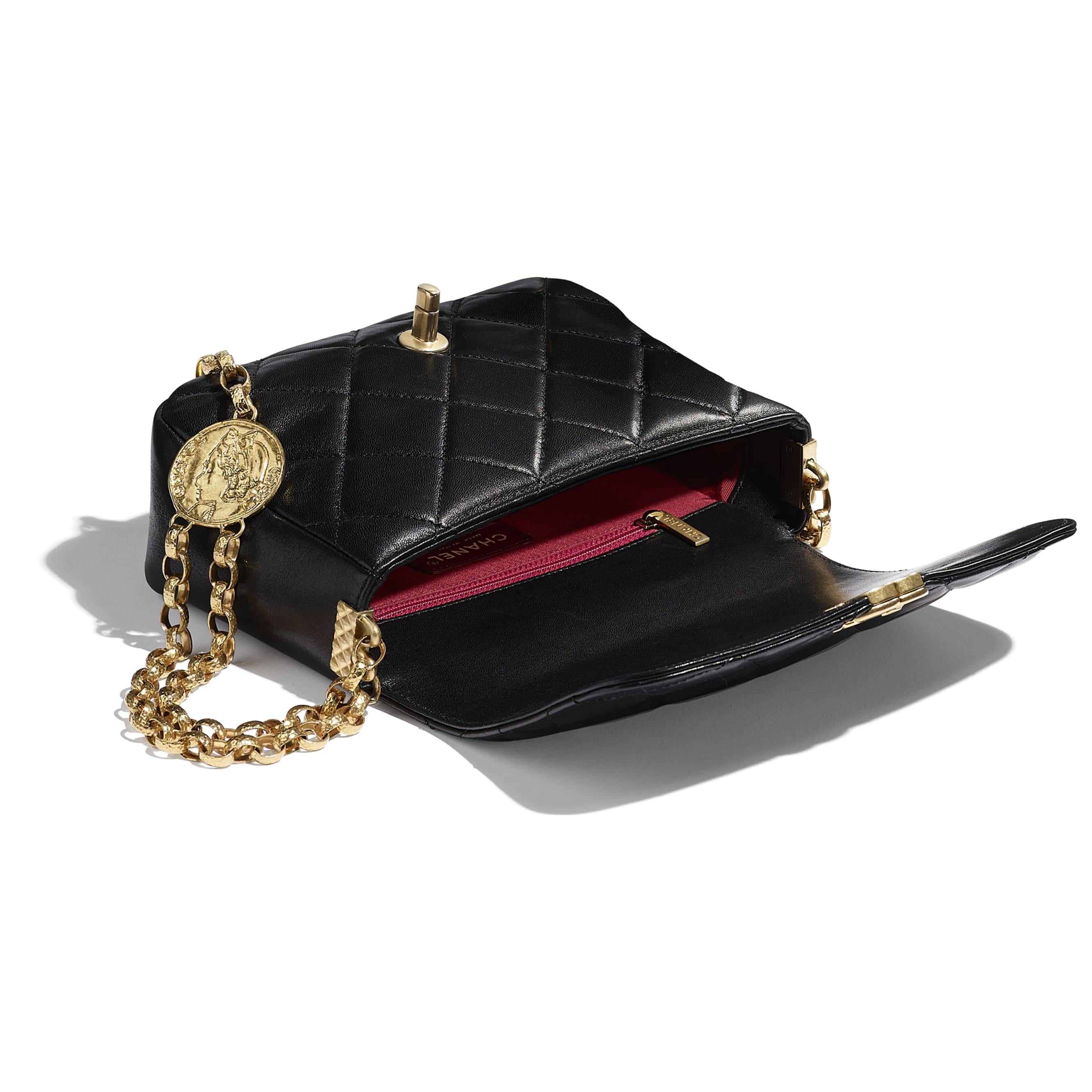 Flap Bag - Black - Lambskin - CHANEL - Other view - see standard sized version