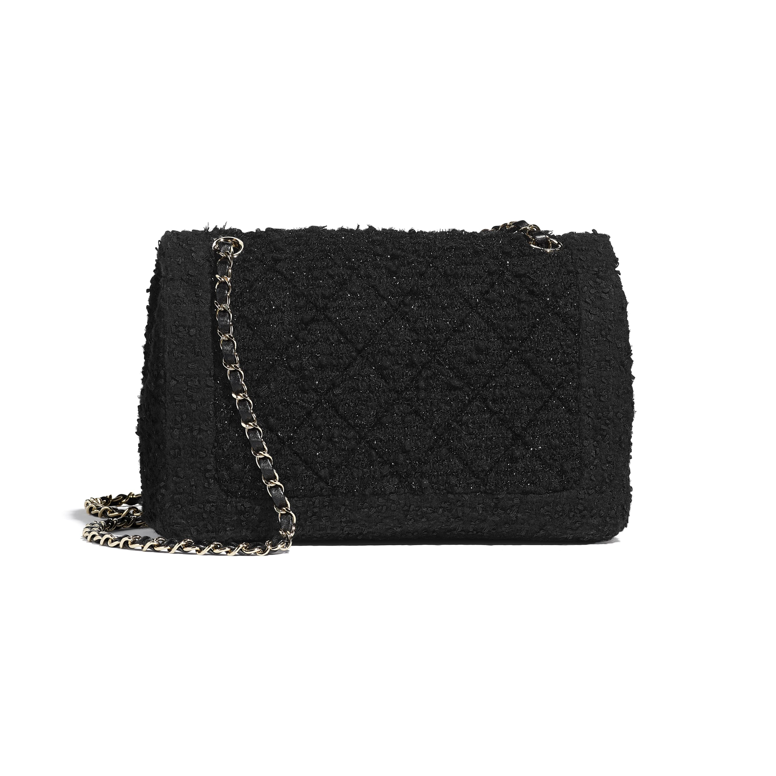 Flap Bag - Black - Tweed & Gold-Tone Metal - CHANEL - Alternative view - see standard sized version