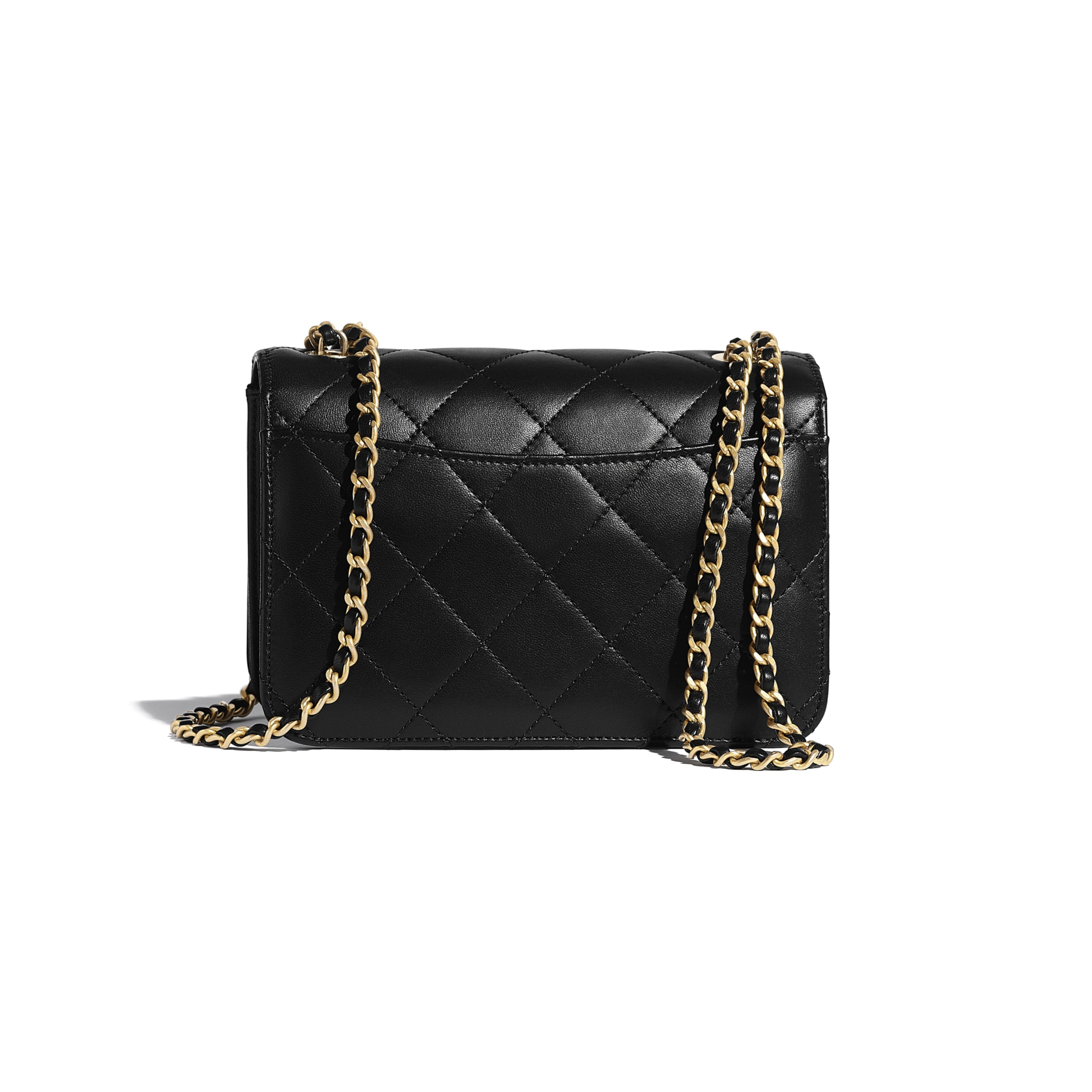 Flap Bag - Black & White - Calfskin, Crystal Pearls, Resin & Gold-Tone Metal - CHANEL - Alternative view - see standard sized version