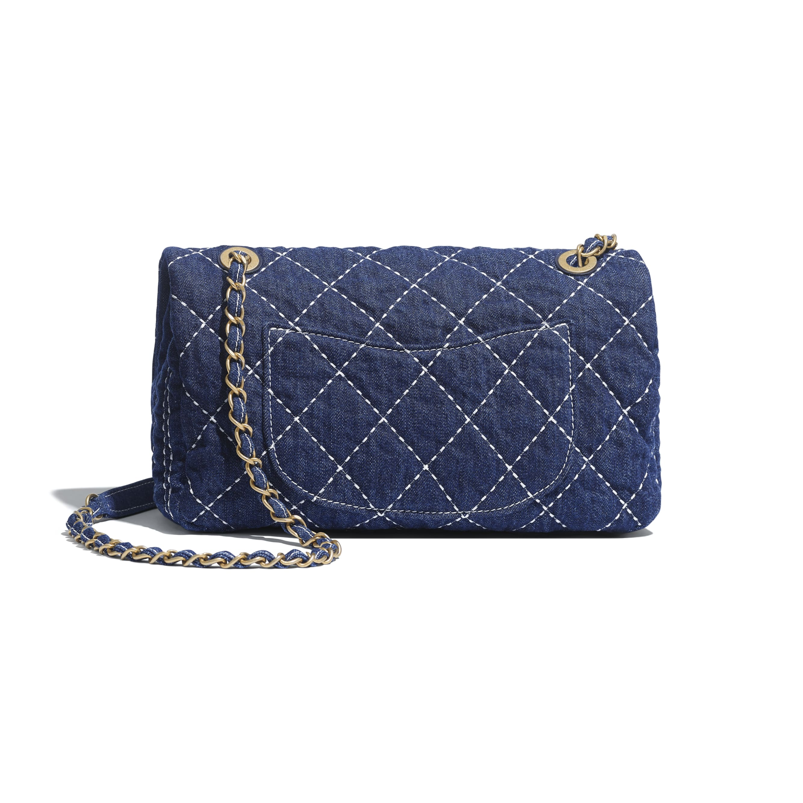 Flap Bag - Blue - Denim & Gold Metal - CHANEL - Alternative view - see standard sized version