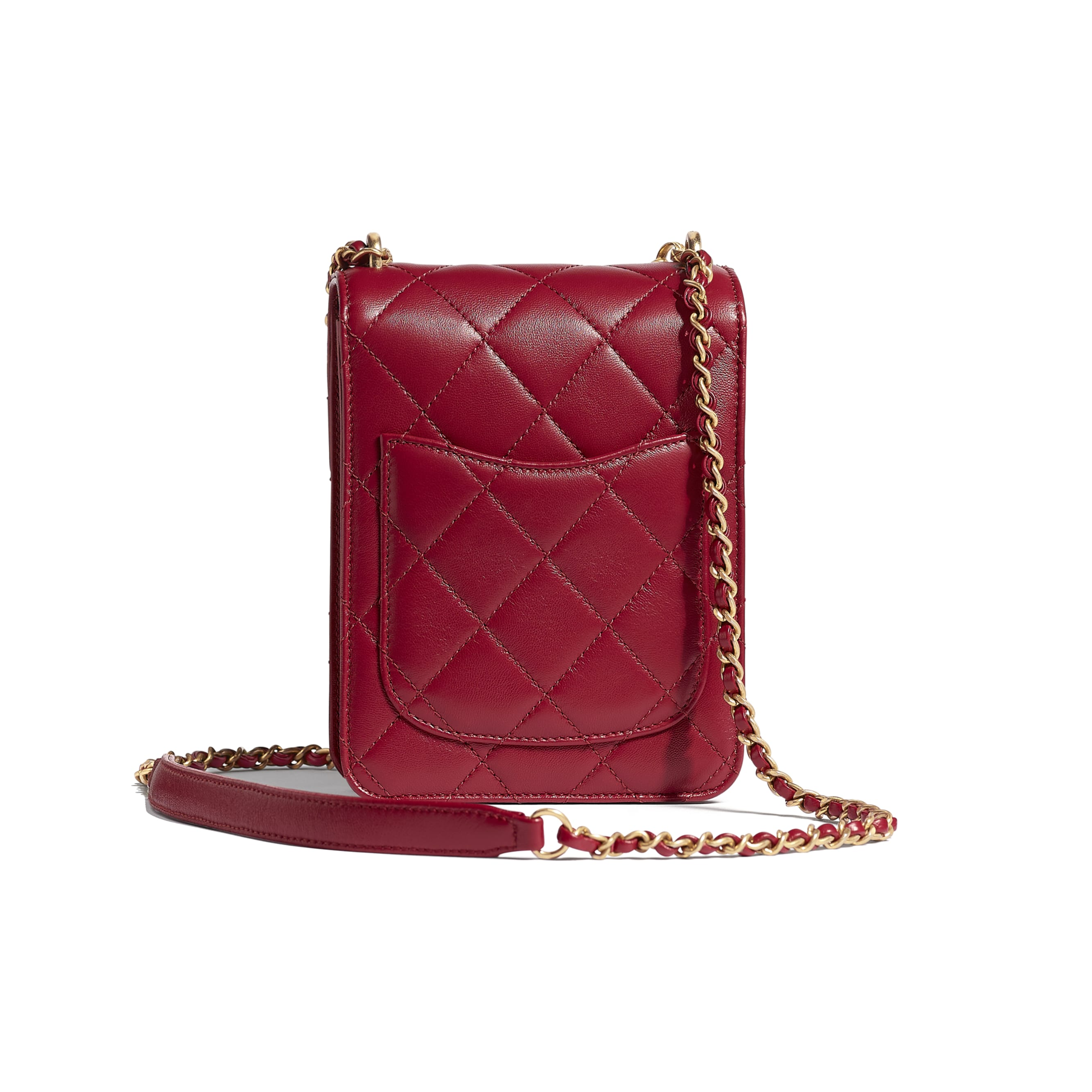 Flap Bag - Fuchsia - Calfskin, Pearls, Amethyst, Quartz & Gold-Tone Metal - CHANEL - Alternative view - see standard sized version