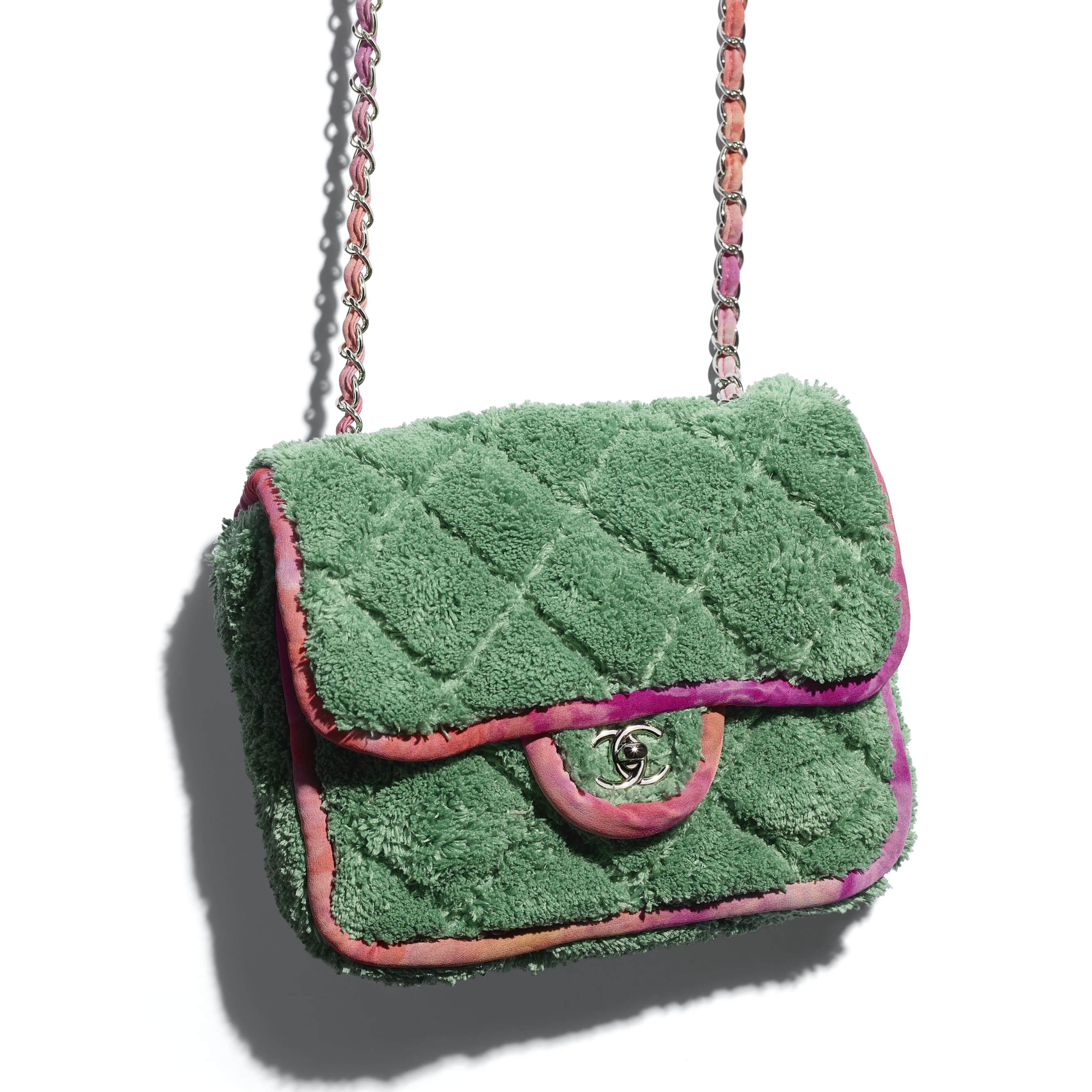 Flap Bag - Green - Mixed Fibers & Silver-Tone Metal - CHANEL - Extra view - see standard sized version
