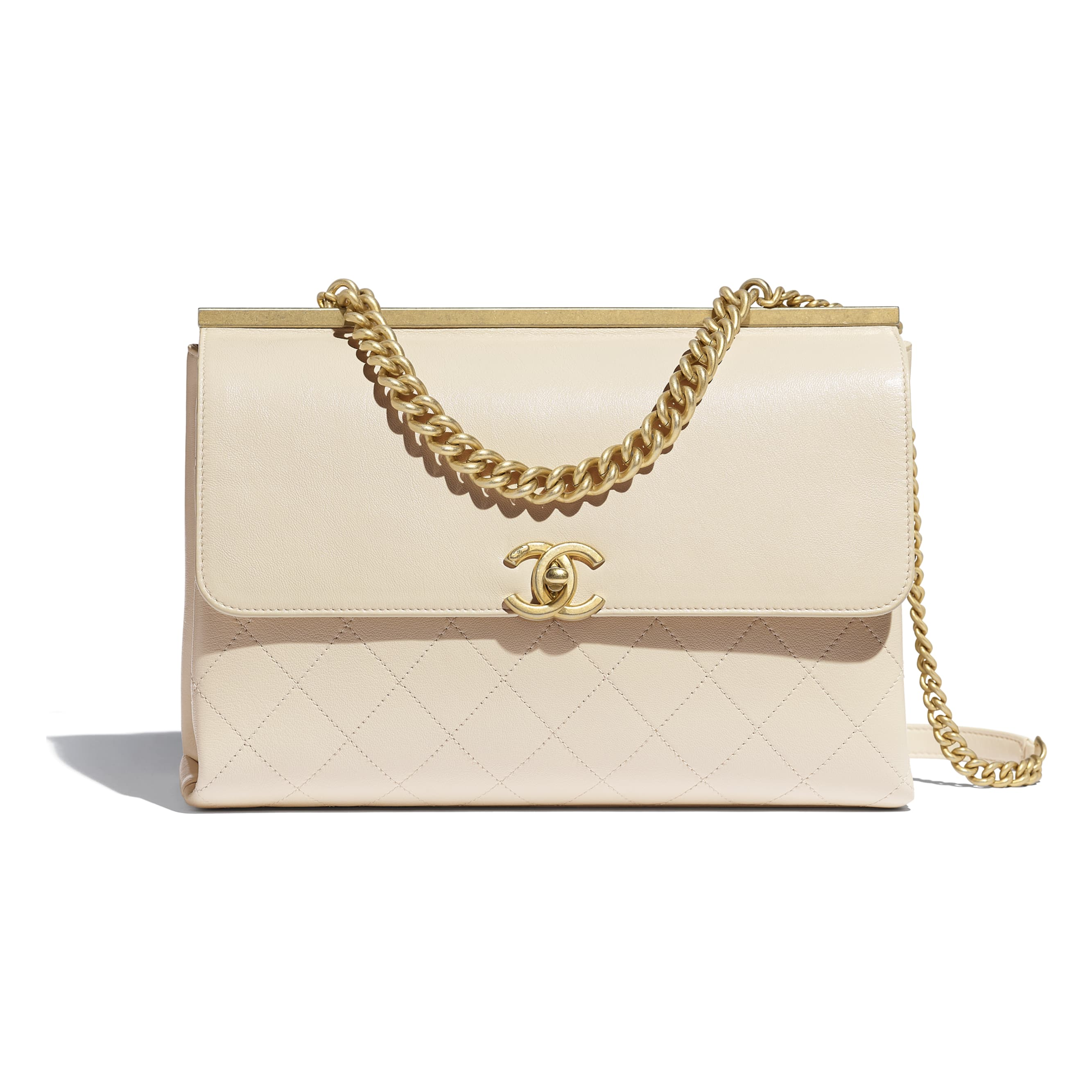 Flap Bag - Light Beige - Lambskin - Default view - see standard sized version