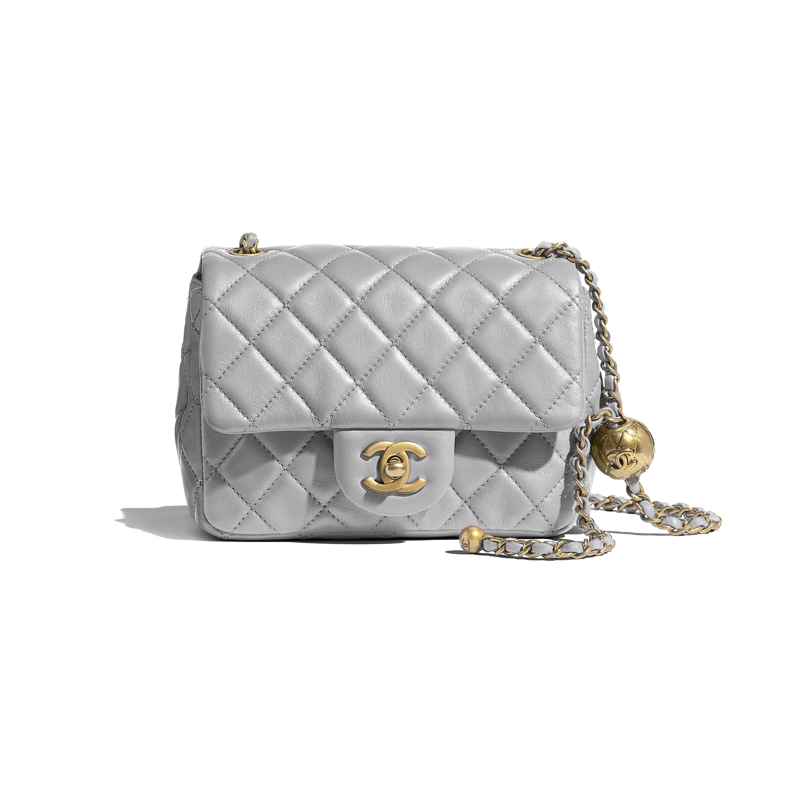 Flap Bag - Light Grey - Lambskin - Default view - see standard sized version
