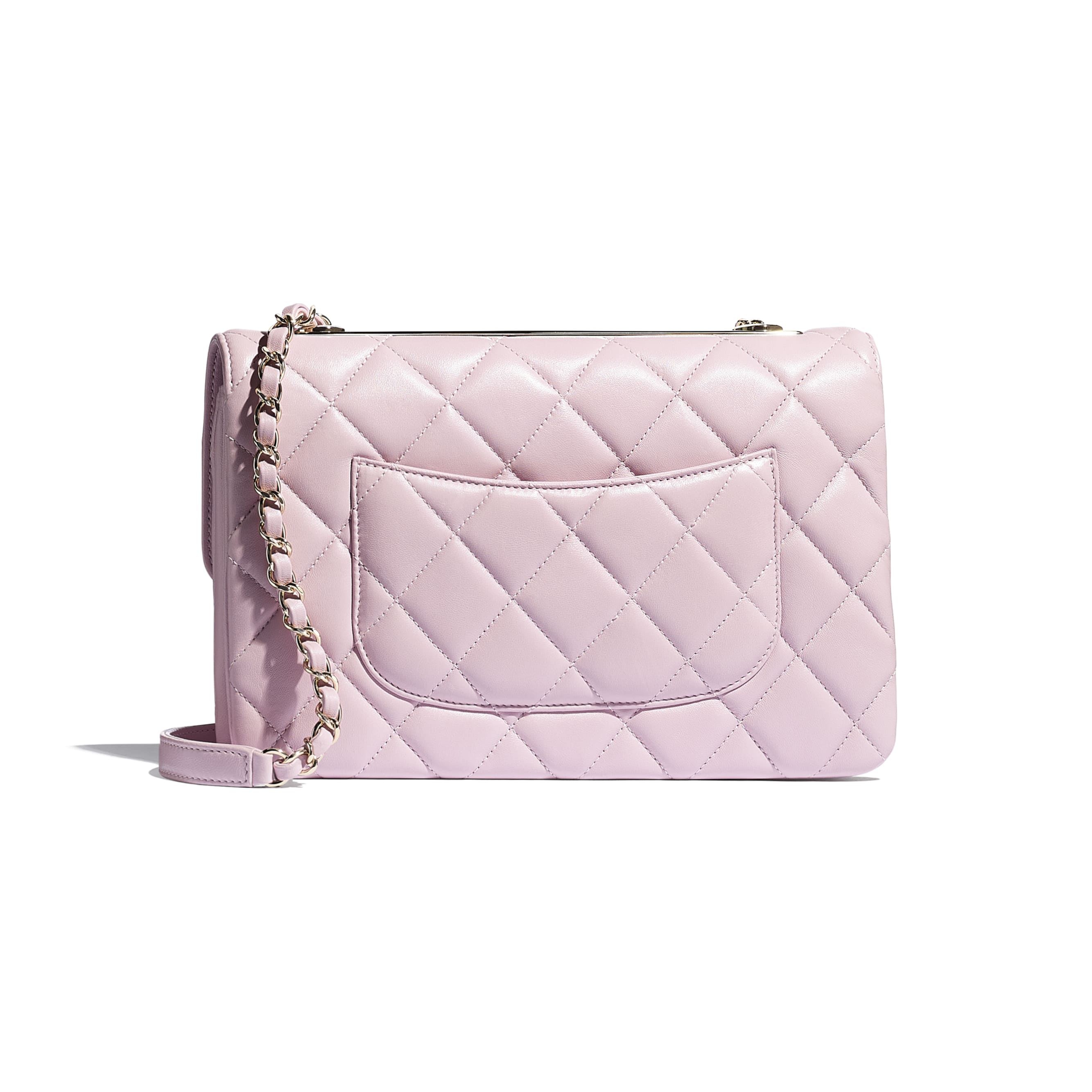Flap Bag - Light Pink - Lambskin - CHANEL - Alternative view - see standard sized version