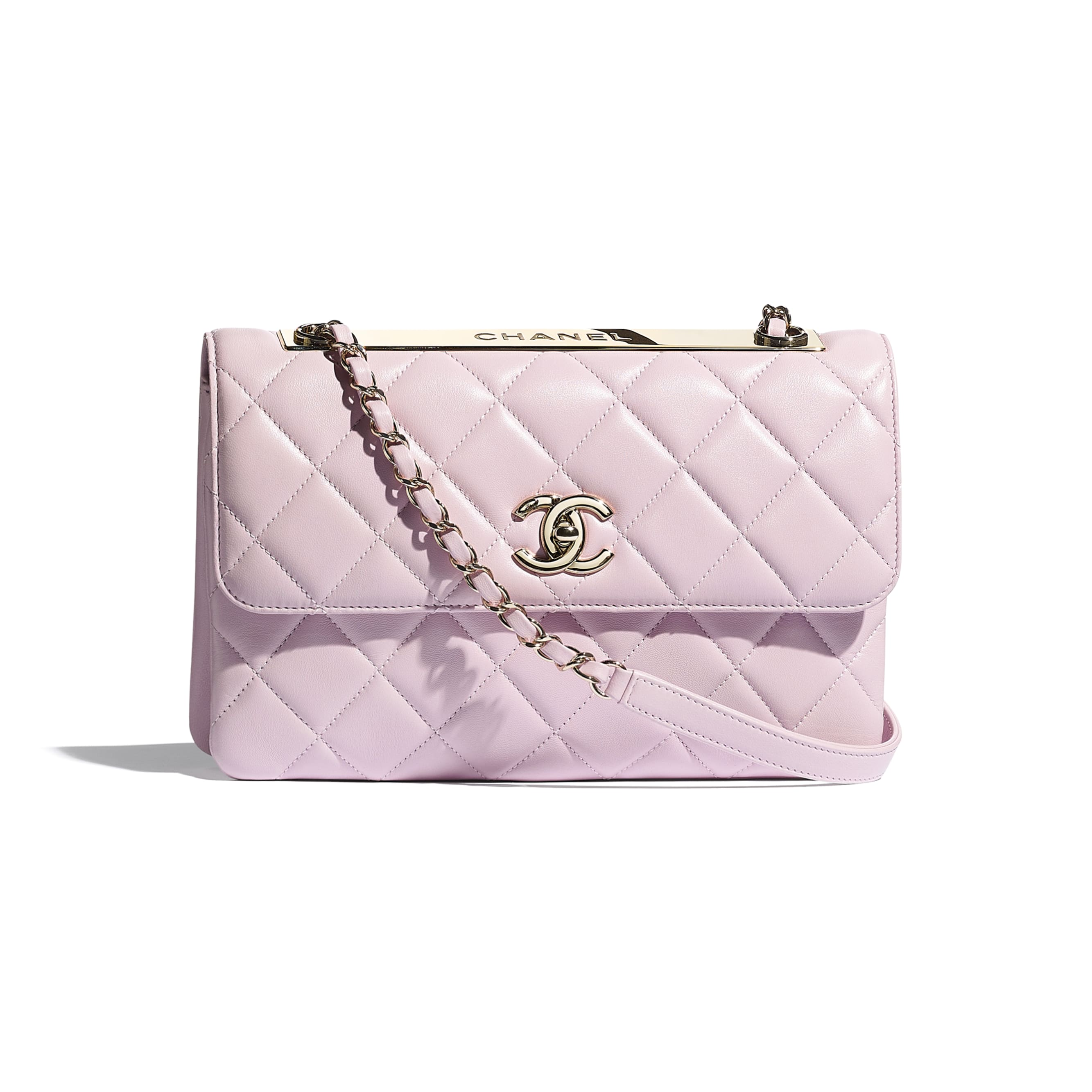 Flap Bag - Light Pink - Lambskin - CHANEL - Default view - see standard sized version