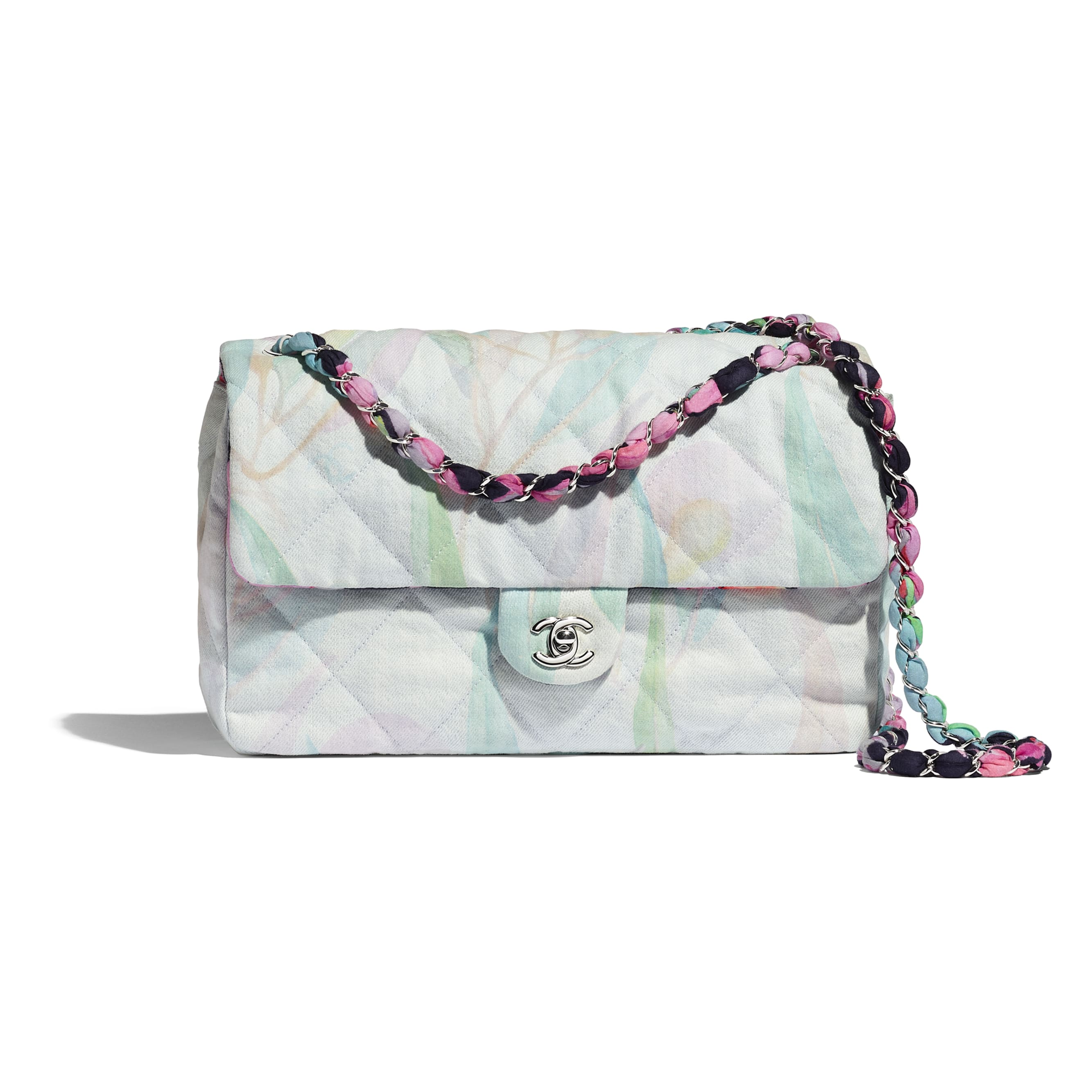 Flap Bag - Multicolour - Denim & Silver-Tone Metal - CHANEL - Default view - see standard sized version