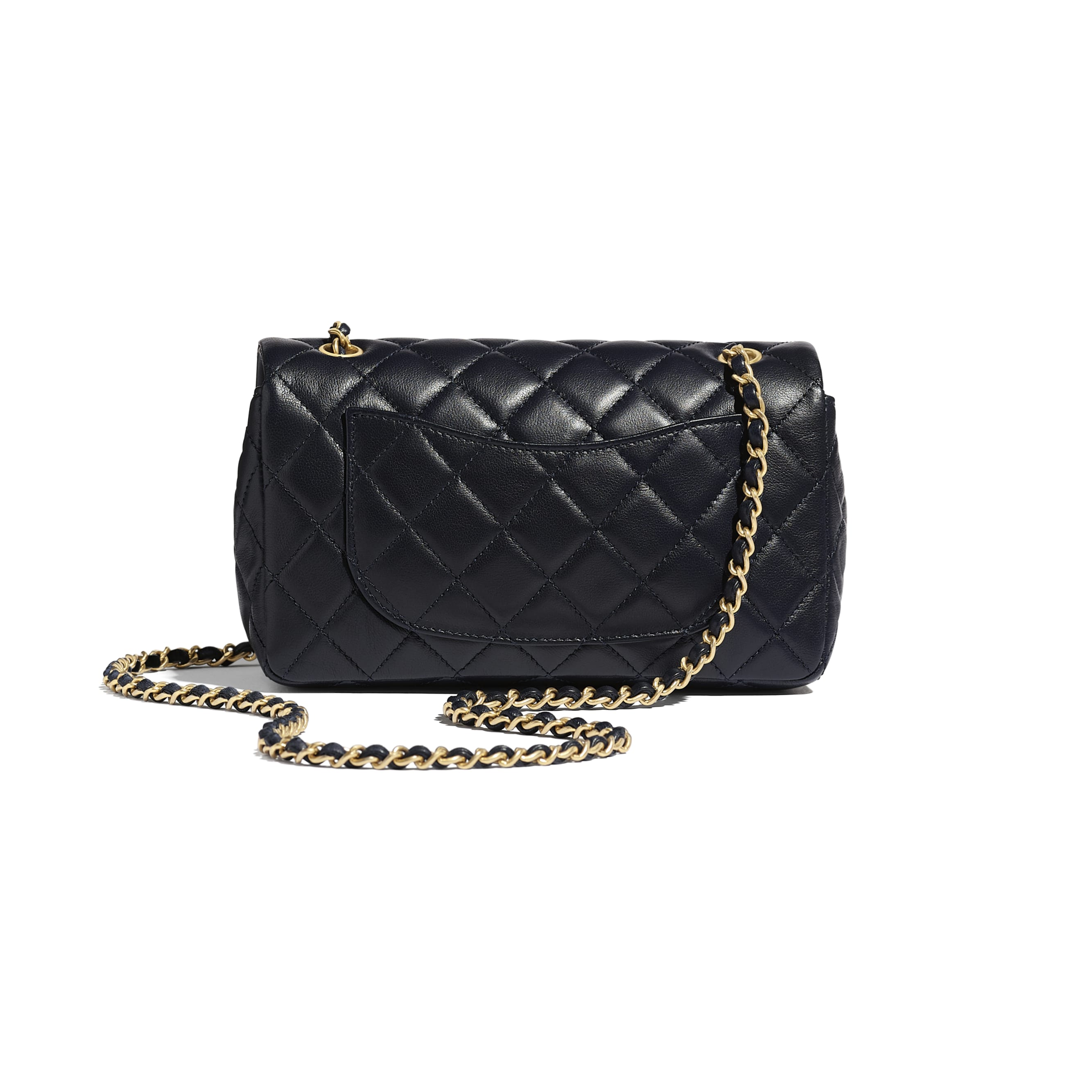 Flap Bag - Navy Blue - Lambskin - CHANEL - Alternative view - see standard sized version