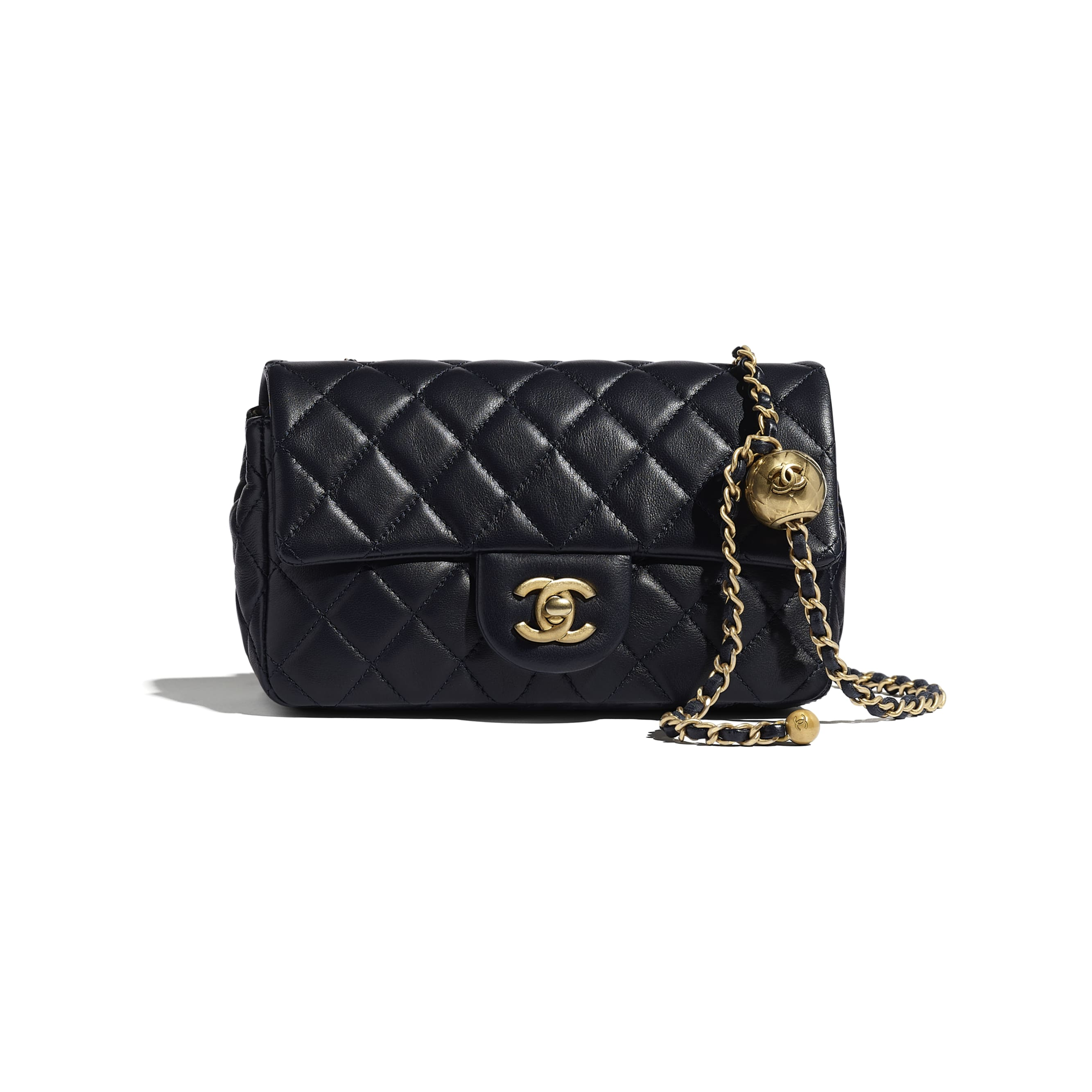 Flap Bag - Navy Blue - Lambskin - CHANEL - Default view - see standard sized version